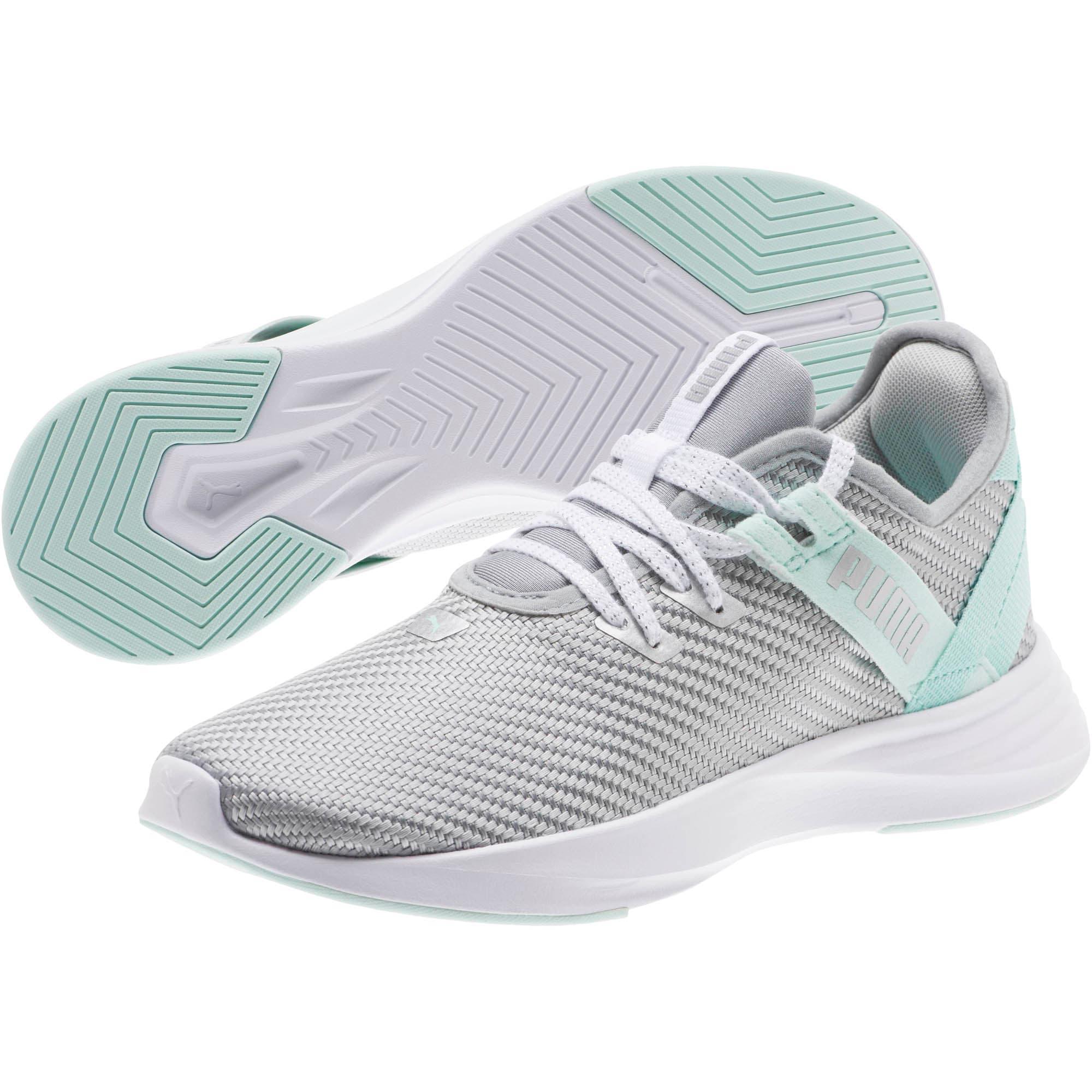 Thumbnail 2 of Radiate XT Cosmic Women's Training Shoes, Puma Silver-Fair Aqua, medium