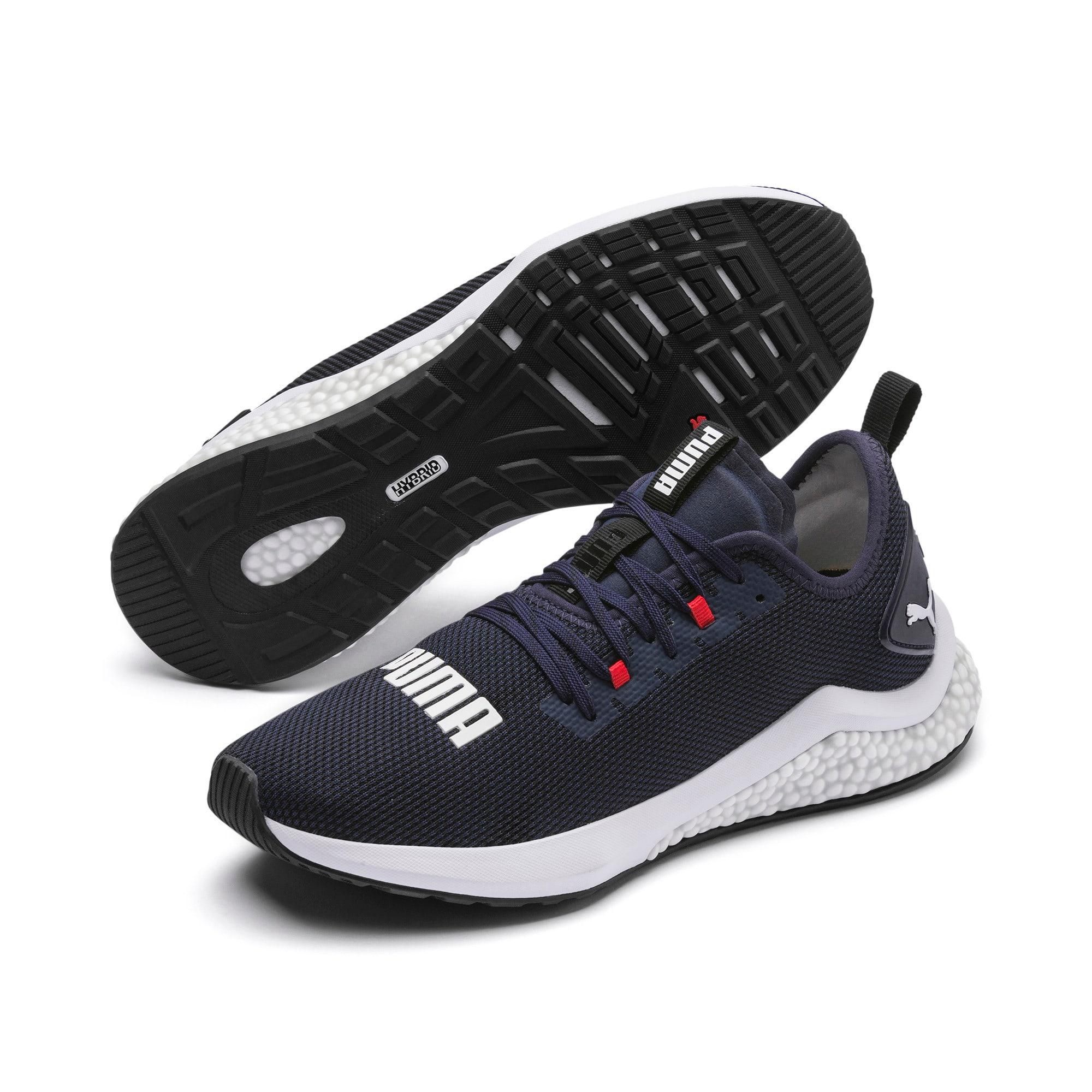 Thumbnail 3 of HYBRID NX Men's Running Shoes, Peacoat-High Risk Red-White, medium