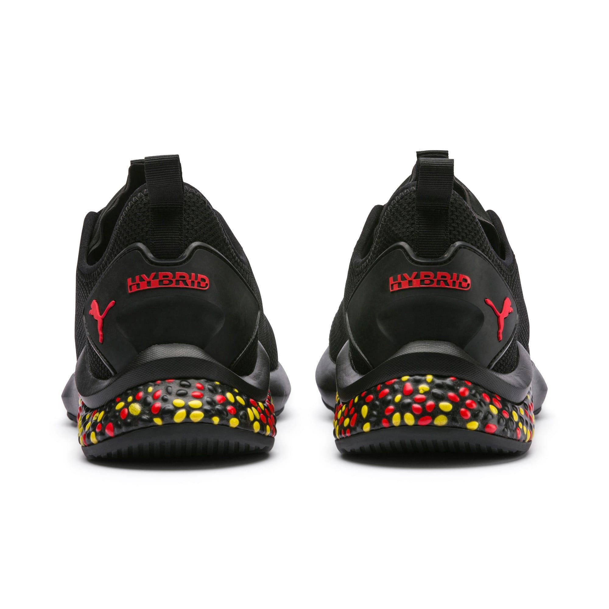 Thumbnail 3 of HYBRID NX Men's Running Shoes, Black-Red-Yellow, medium