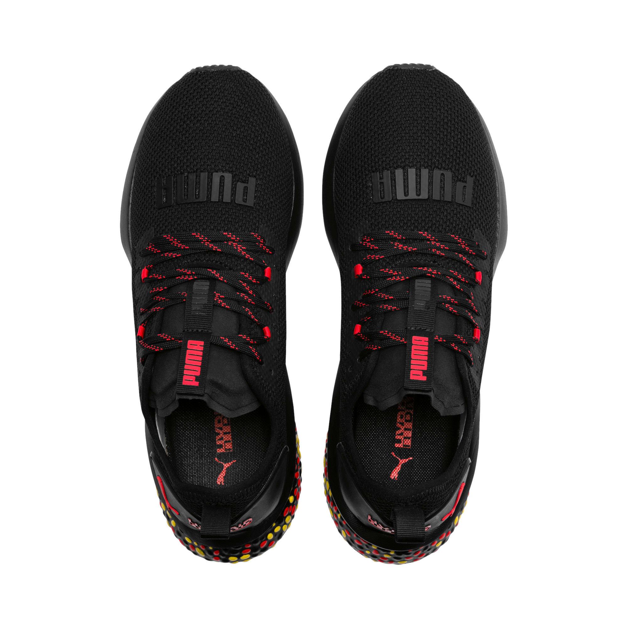 Thumbnail 6 of HYBRID NX Men's Running Shoes, Black-Red-Yellow, medium