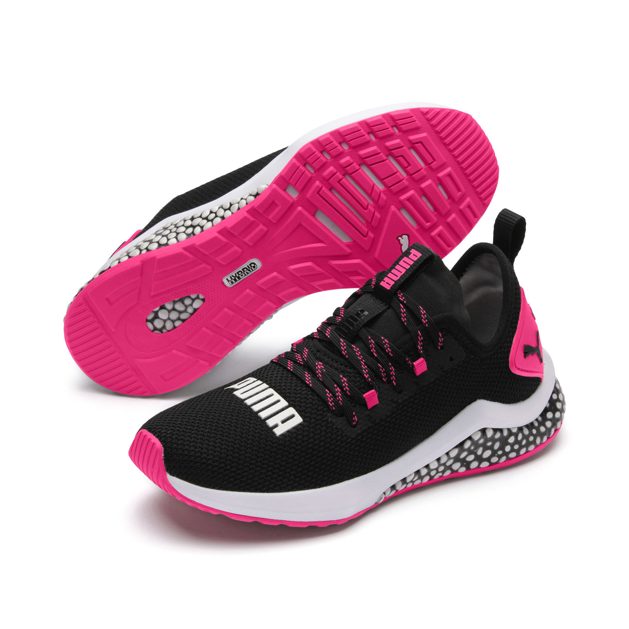 Thumbnail 3 of HYBRID NX Women's Running Shoes, Puma Black-Fuchsia Purple, medium