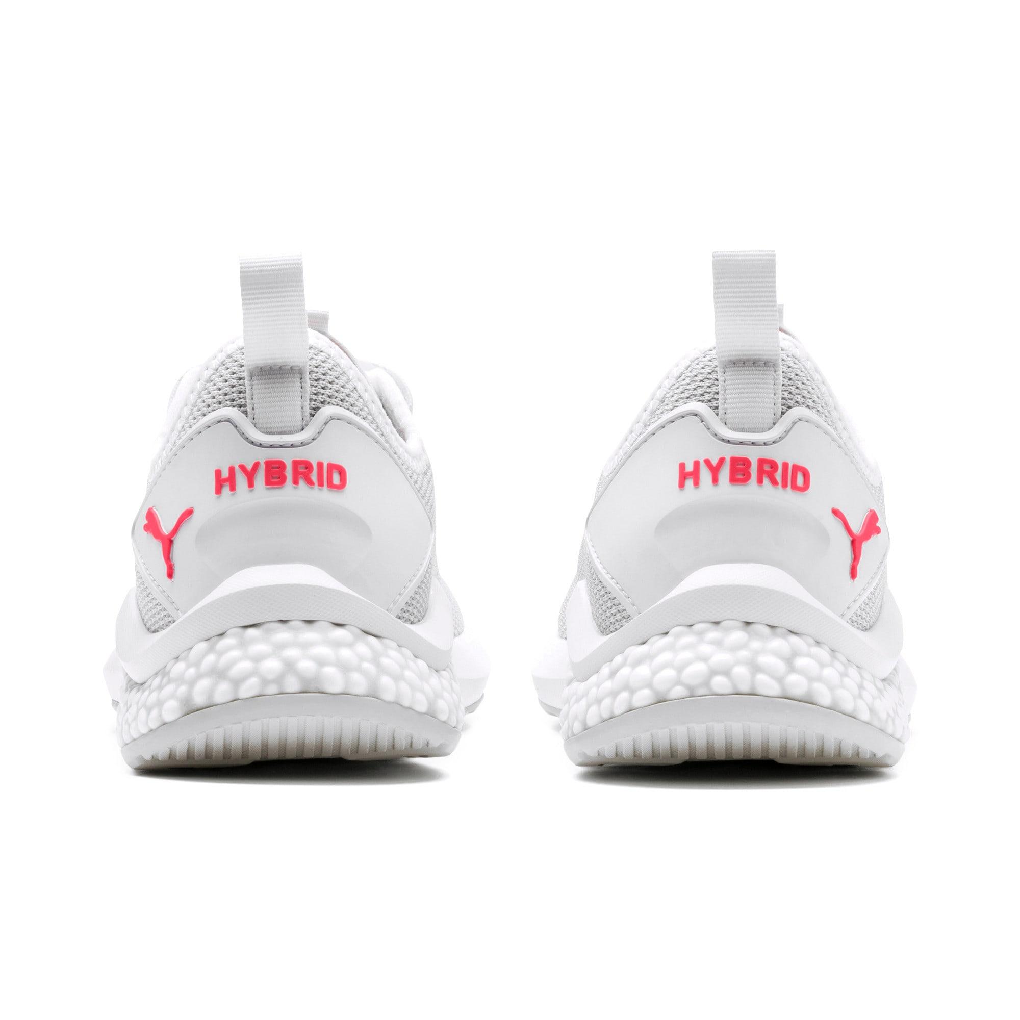 Thumbnail 4 of HYBRID NX Women's Running Shoes, Puma White-Pink Alert, medium