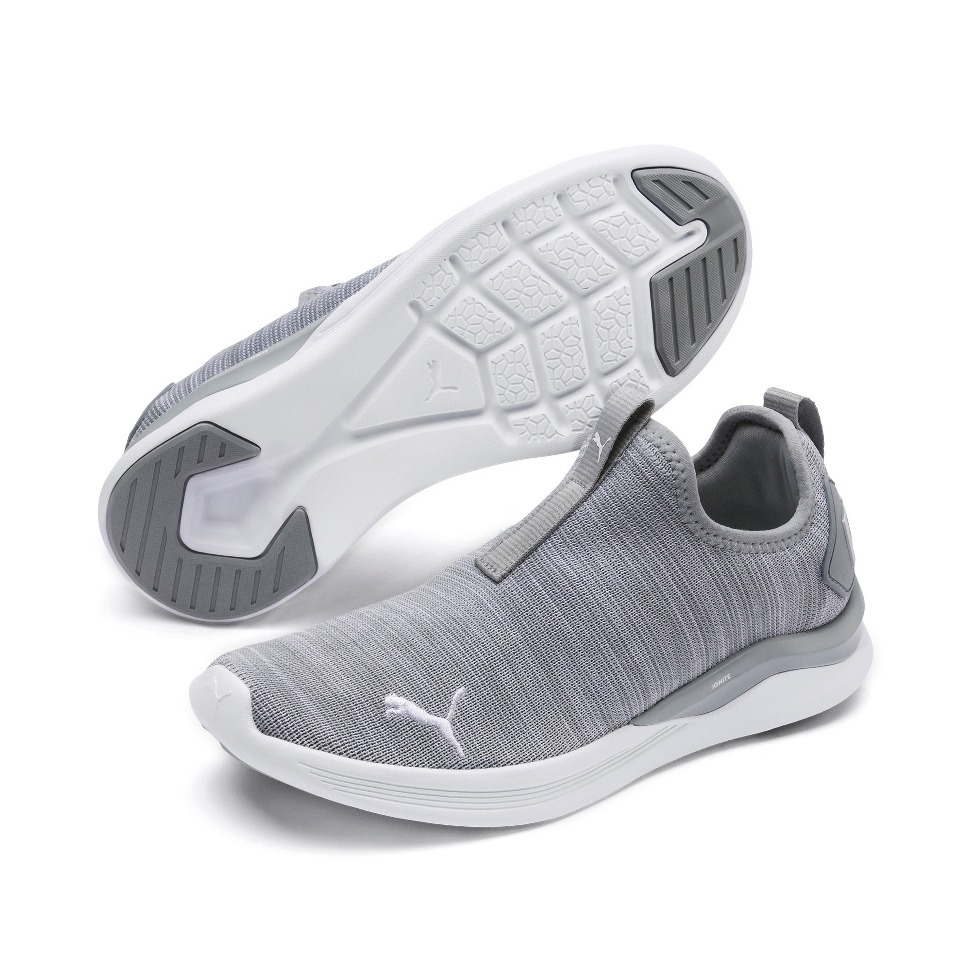 Thumbnail 2 of IGNITE Flash Summer Slip Women's Training Shoes, Quarry-Puma White, medium