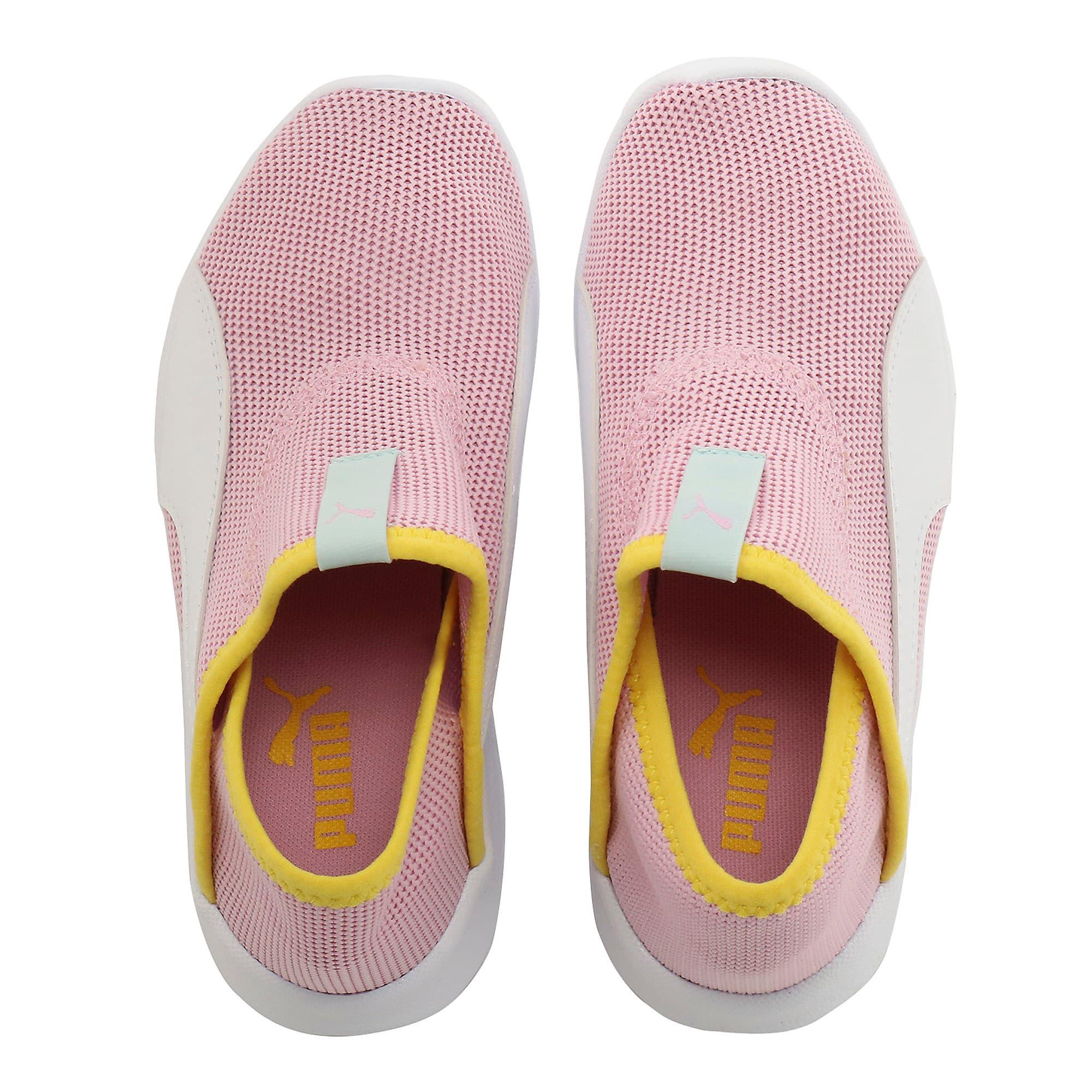 Thumbnail 6 of キッズ プーマ バオ 3 ソック PS 17-21cm, Pale Pink-White-Blazi Yellow, medium-JPN