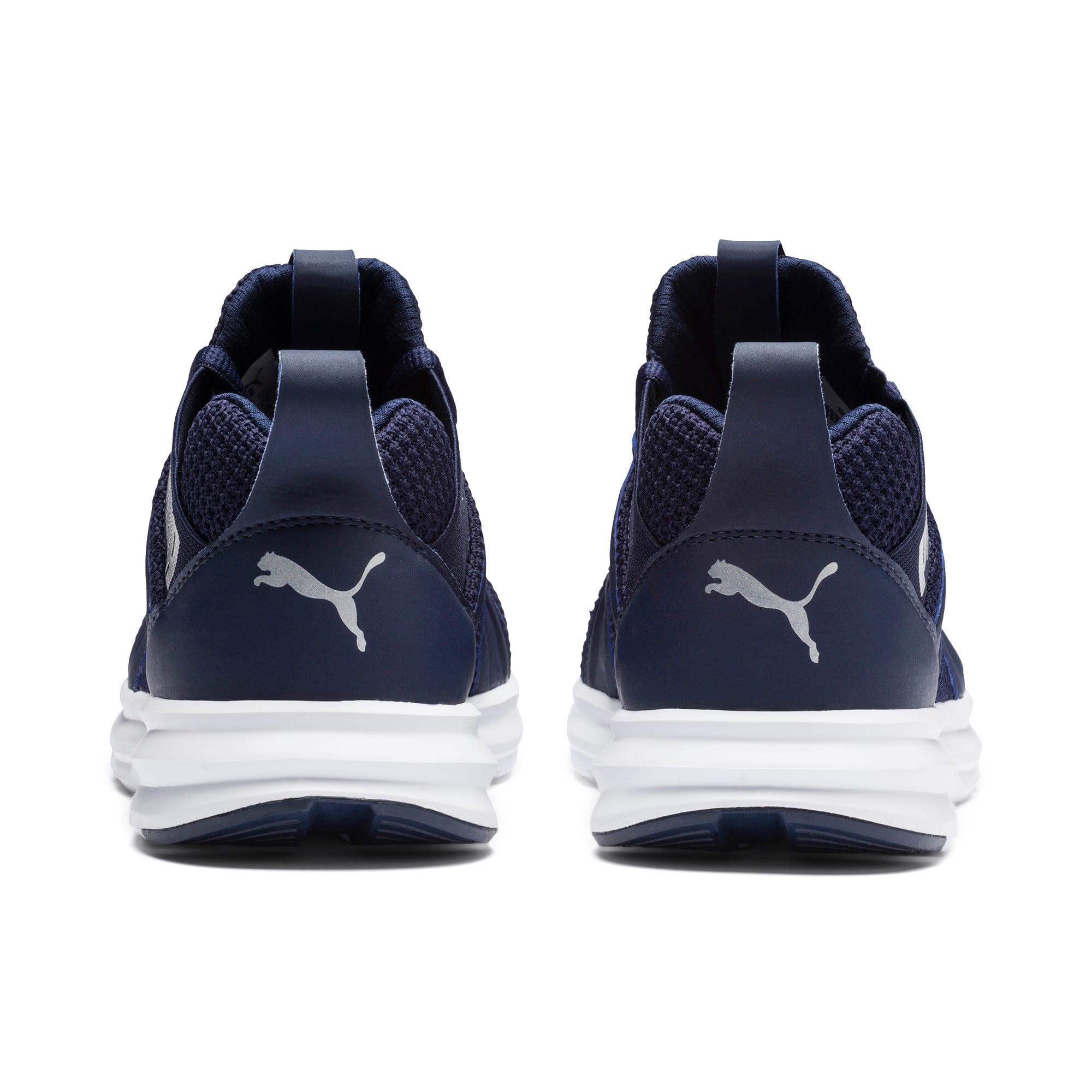 Thumbnail 4 of Enzo Weave Sneakers JR, Peacoat- Silver-Puma White, medium