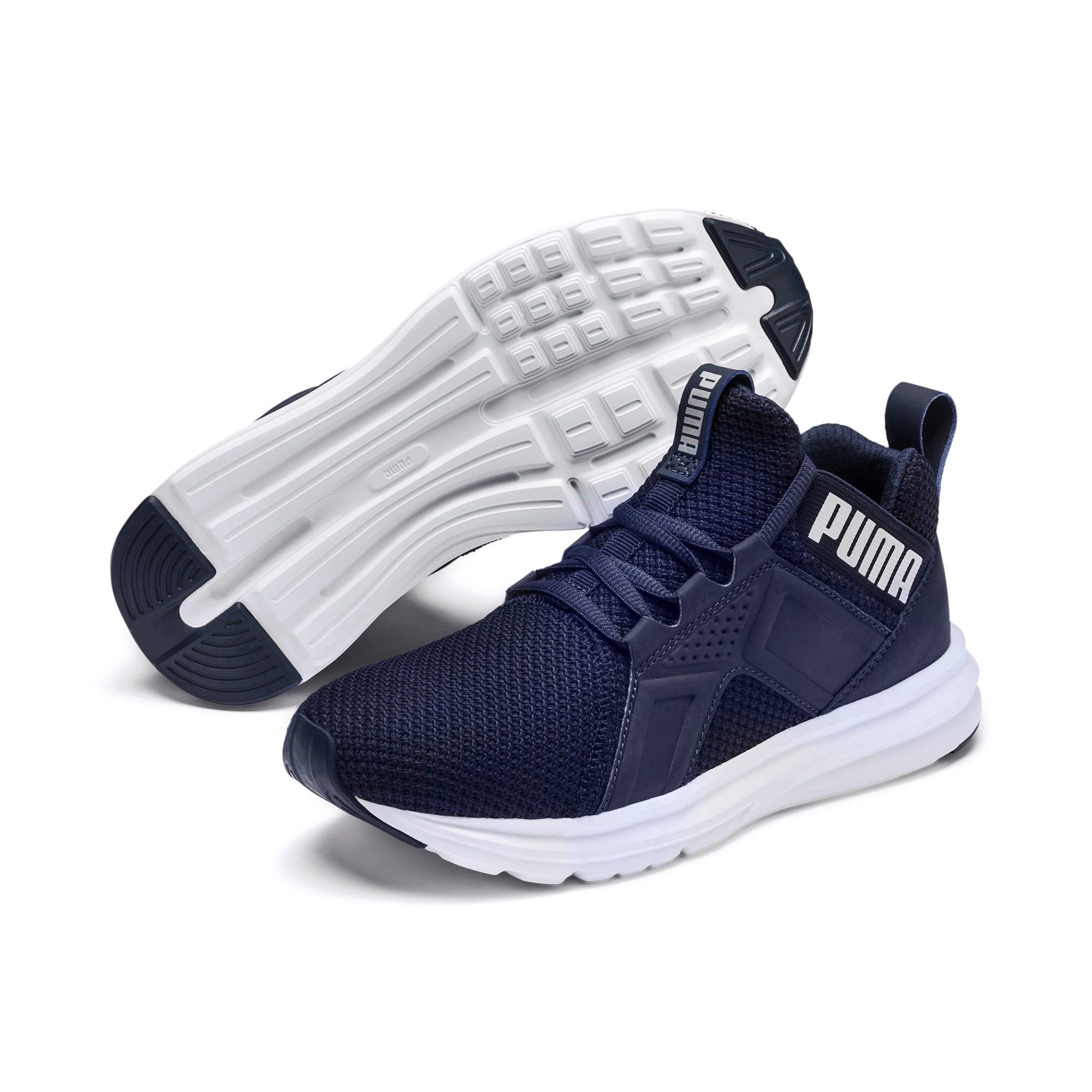 Thumbnail 2 of Enzo Weave Sneakers JR, Peacoat- Silver-Puma White, medium