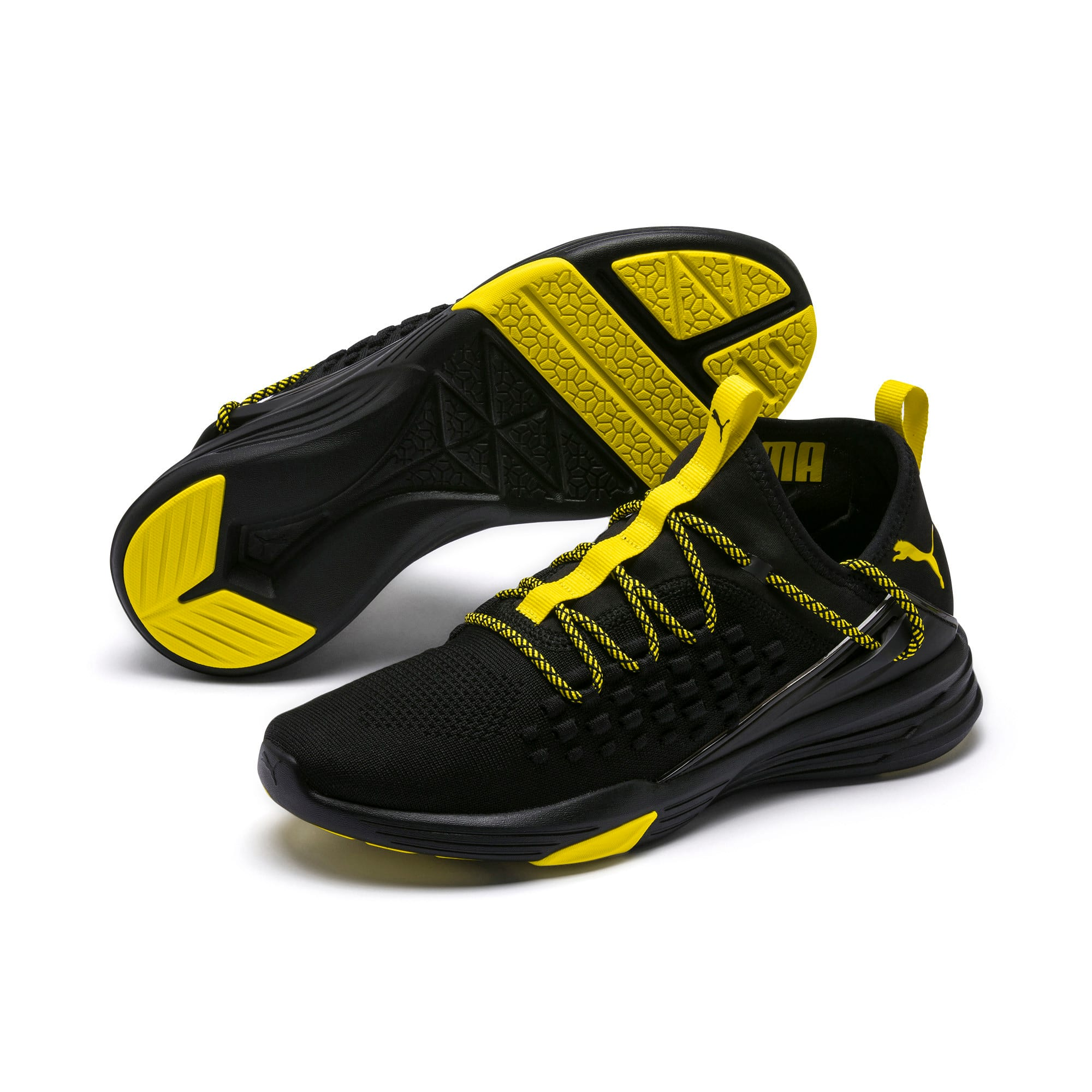 Thumbnail 2 of Mantra Caution Herren Trainingsschuhe, Puma Black-Blazing Yellow, medium