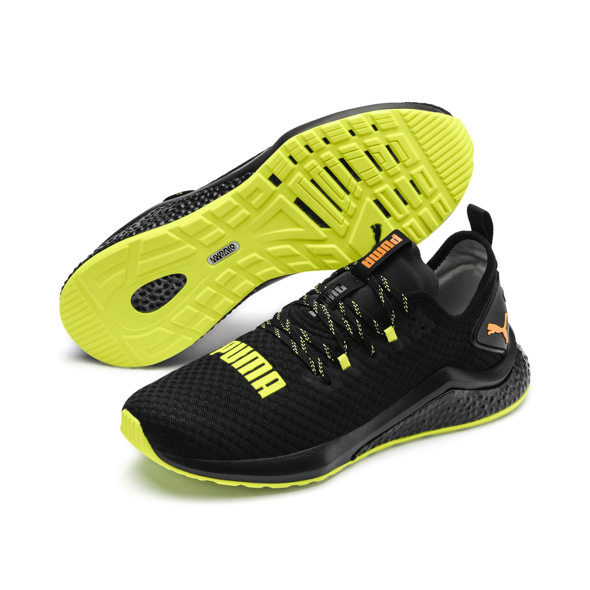 Thumbnail 3 of HYBRID NX Daylight Men's Trainers, Black-FizzyYellow-OrangePop, medium
