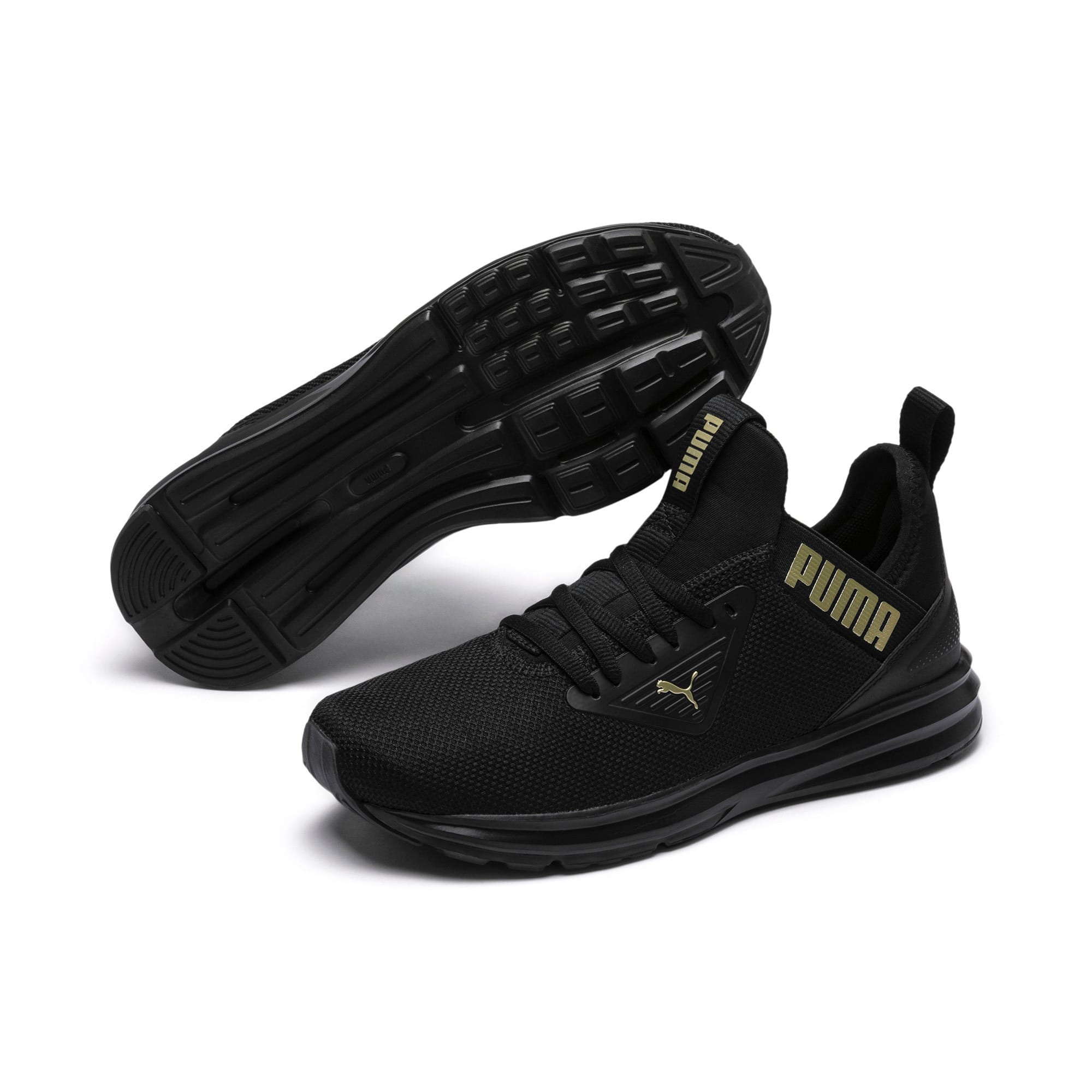 Thumbnail 2 of Enzo Beta Women's Trainers, Puma Black-Metallic Gold, medium