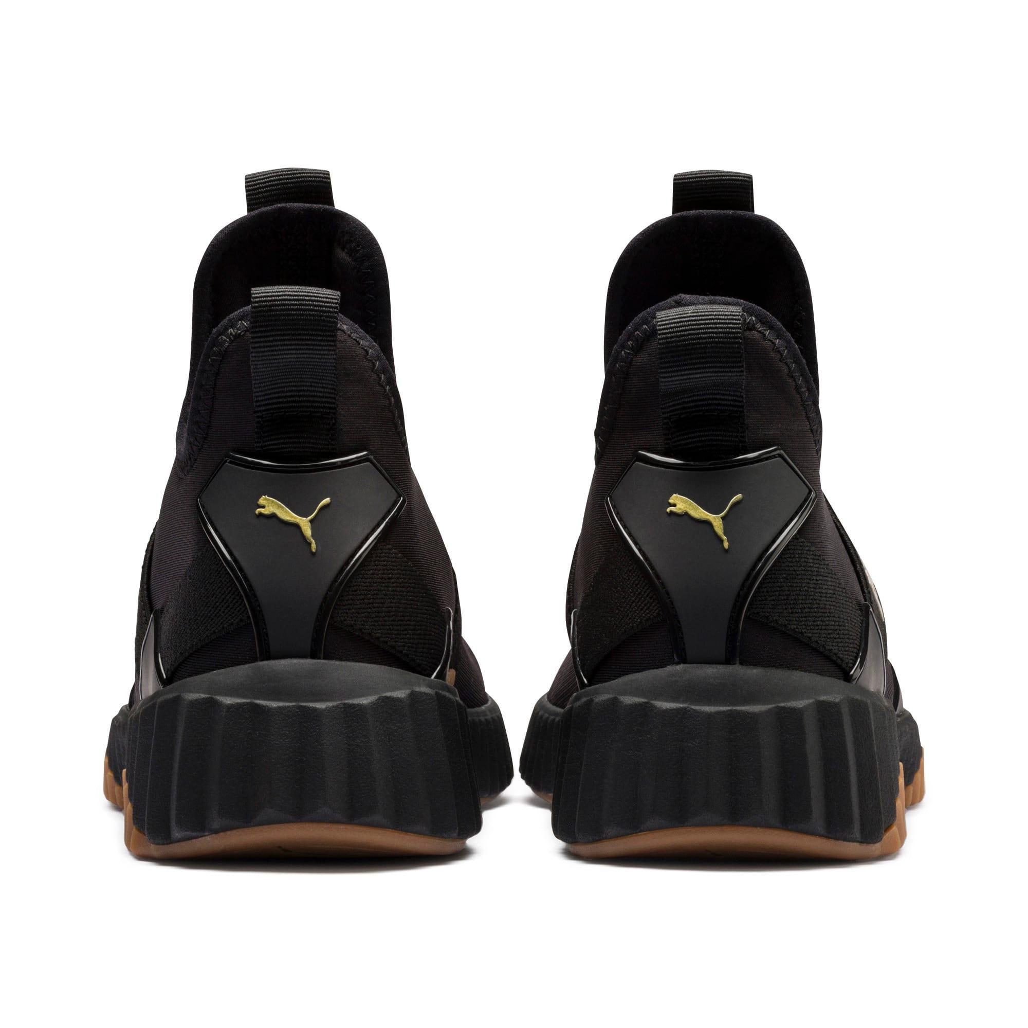 Thumbnail 4 of Defy Mid Sparkle Women's Training Shoes, Puma Black-Metallic Gold, medium