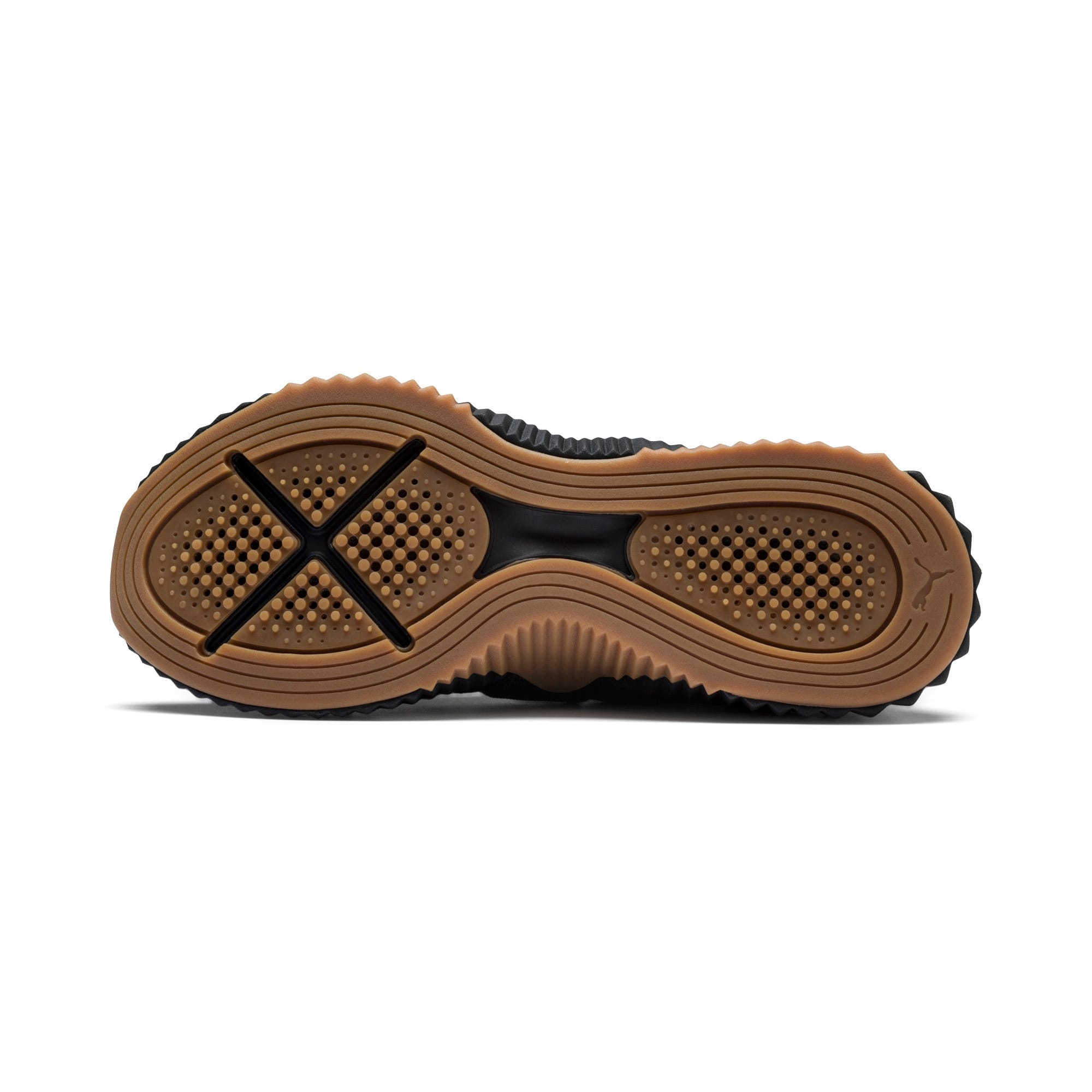 Thumbnail 5 of Defy Mid Sparkle Damen Sneaker, Puma Black-Metallic Gold, medium