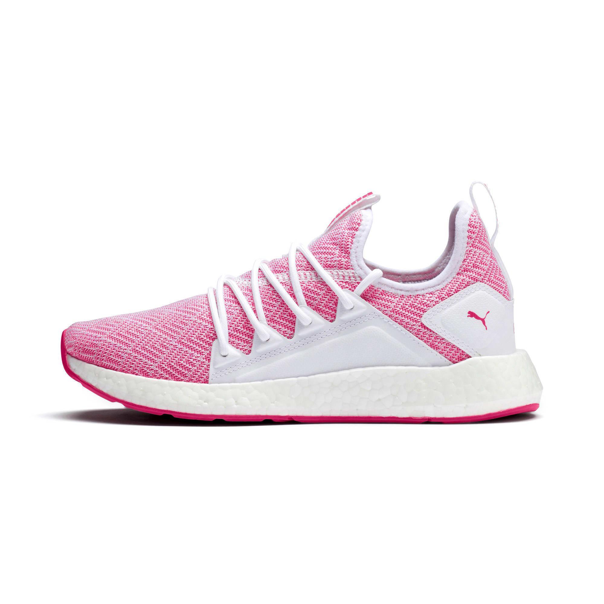 Thumbnail 1 of NRGY Neko Stellar Women's Running Shoes, Puma White-Fuchsia Purple, medium