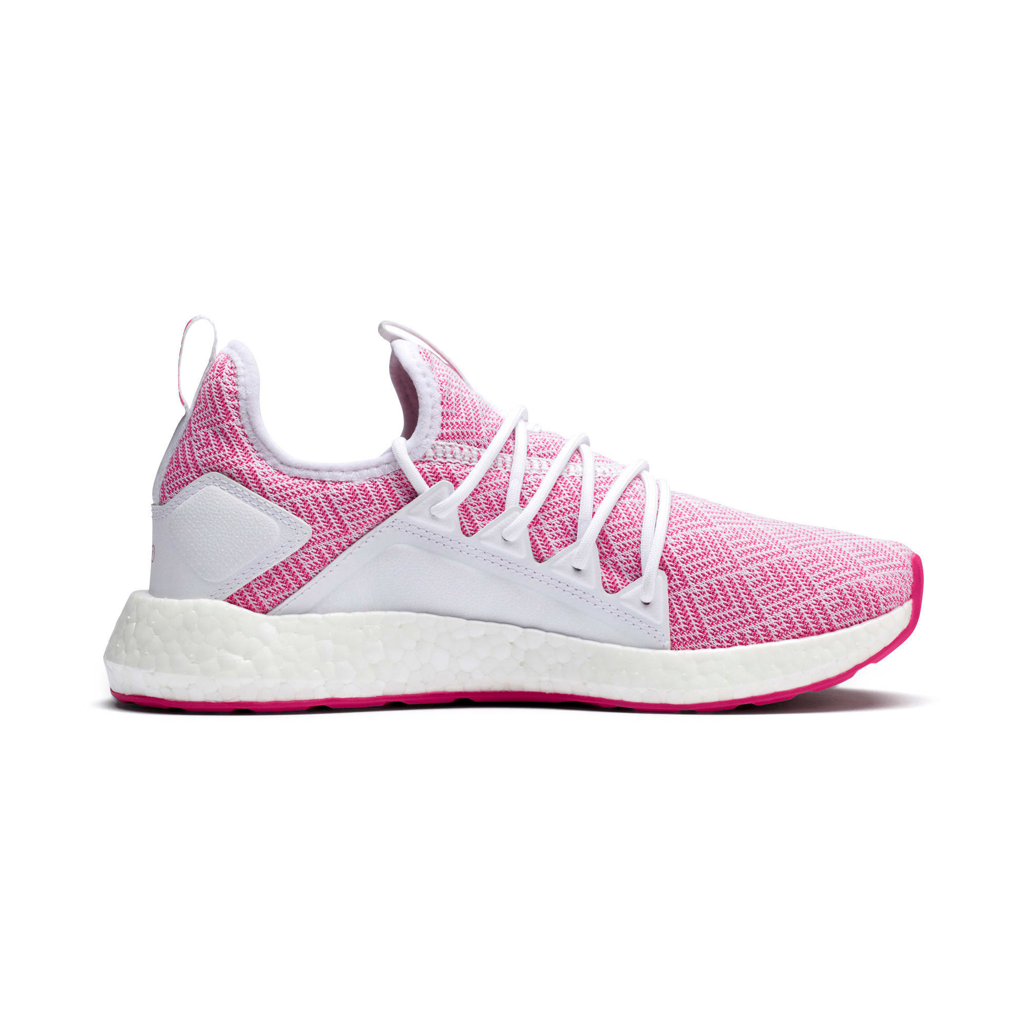 Thumbnail 5 of NRGY Neko Stellar Women's Running Shoes, Puma White-Fuchsia Purple, medium