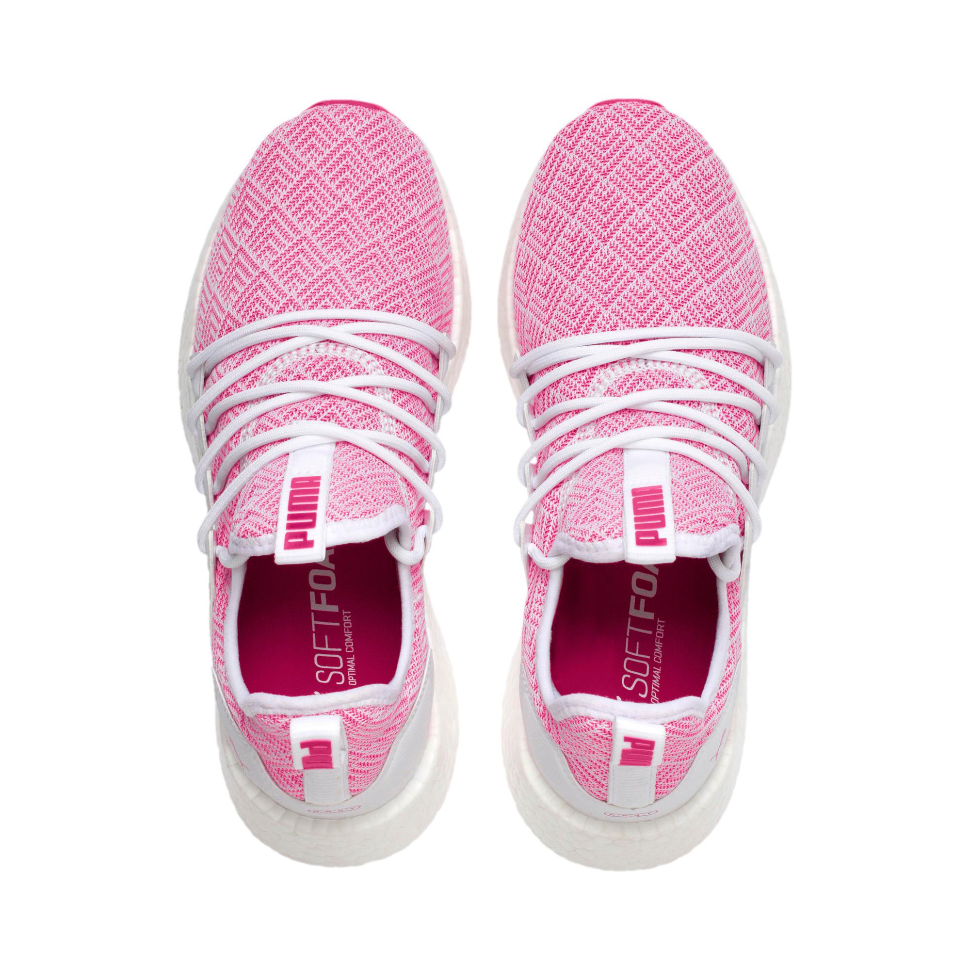 Thumbnail 6 of NRGY Neko Stellar Women's Running Shoes, Puma White-Fuchsia Purple, medium