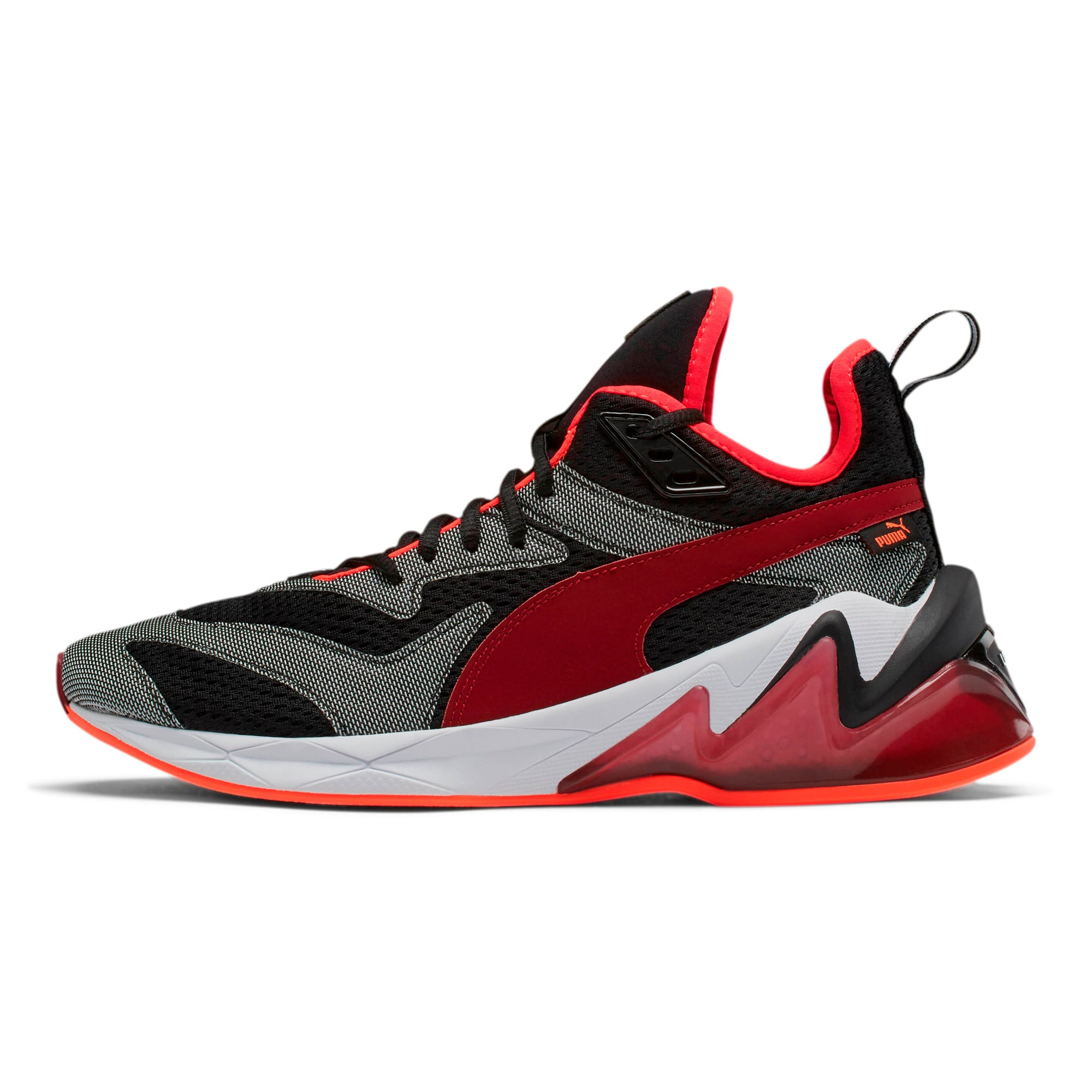 Thumbnail 1 of LQDCELL Origin Tech Men's Training Shoes, Puma Black-Rhubarb, medium