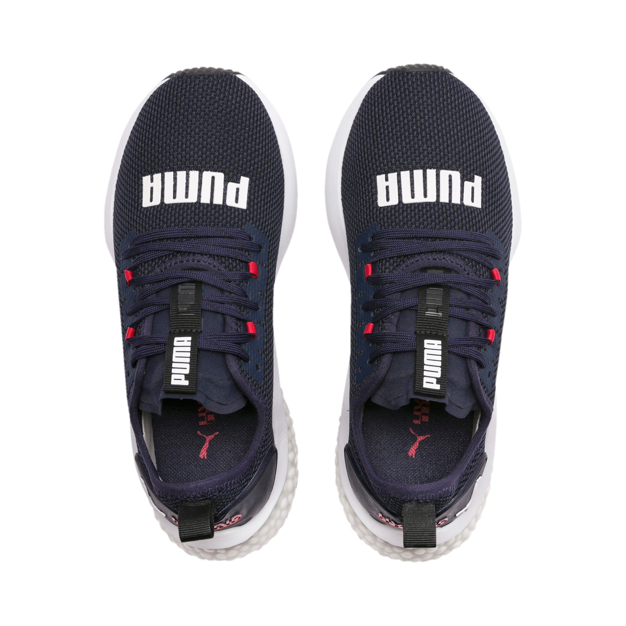 Thumbnail 6 of HYBRID NX Youth Trainers, Peacoat-High Risk Red-White, medium