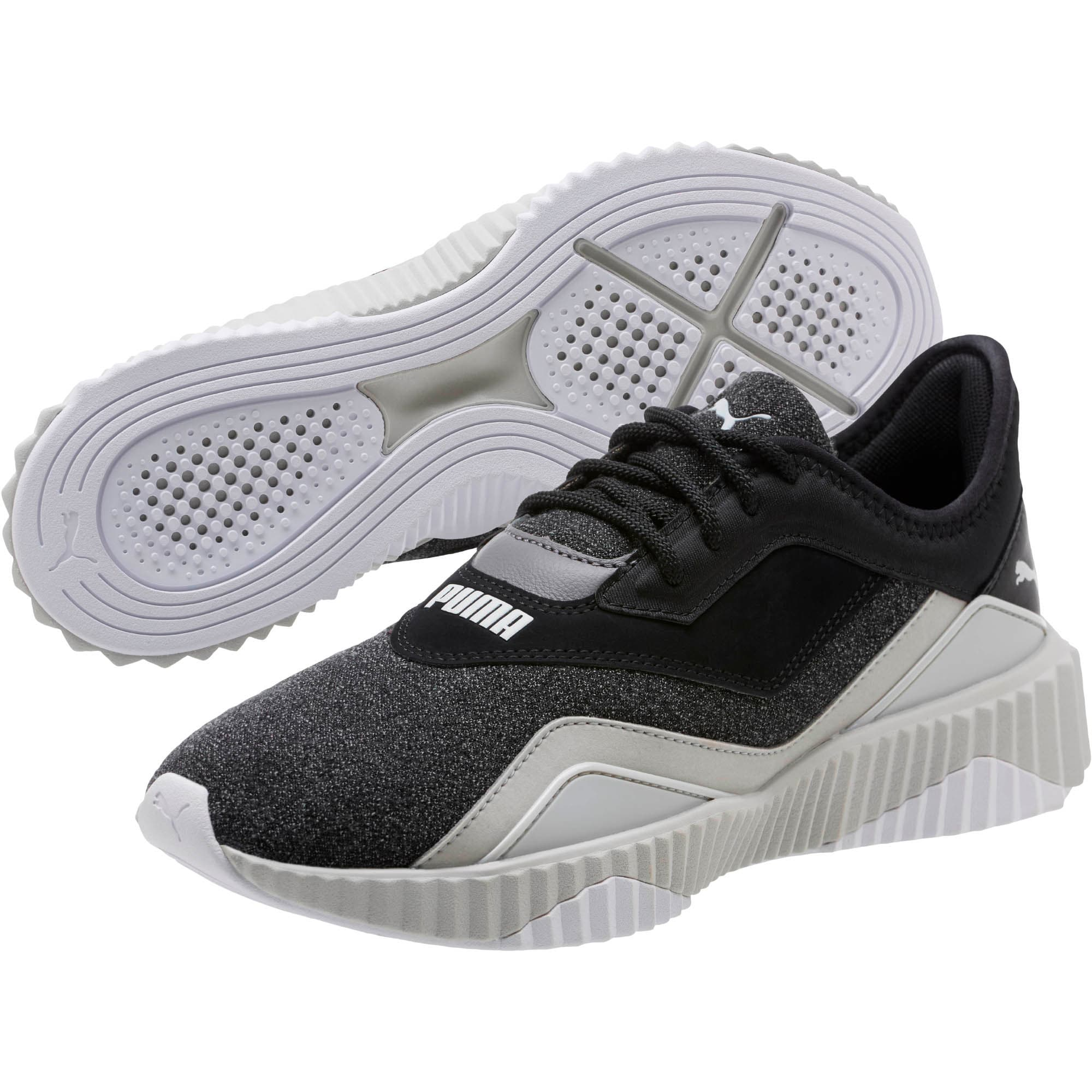 Thumbnail 2 of Defy Stitched Z Women's Training Shoes, Puma Black-Glacier Gray, medium