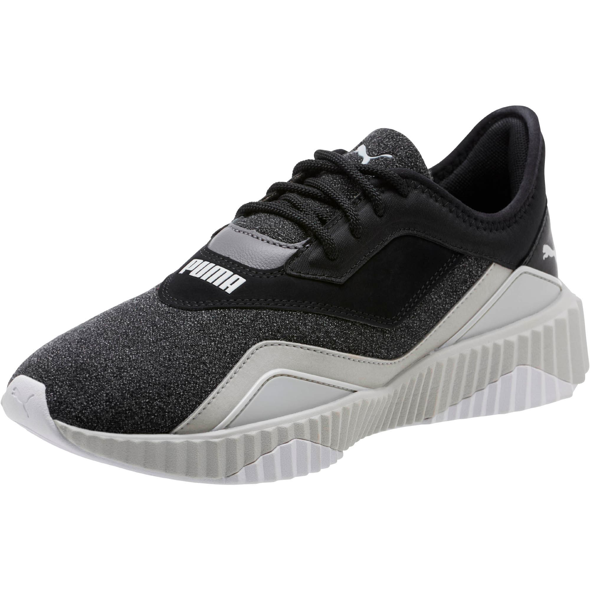 Thumbnail 1 of Defy Stitched Z Women's Training Shoes, Puma Black-Glacier Gray, medium