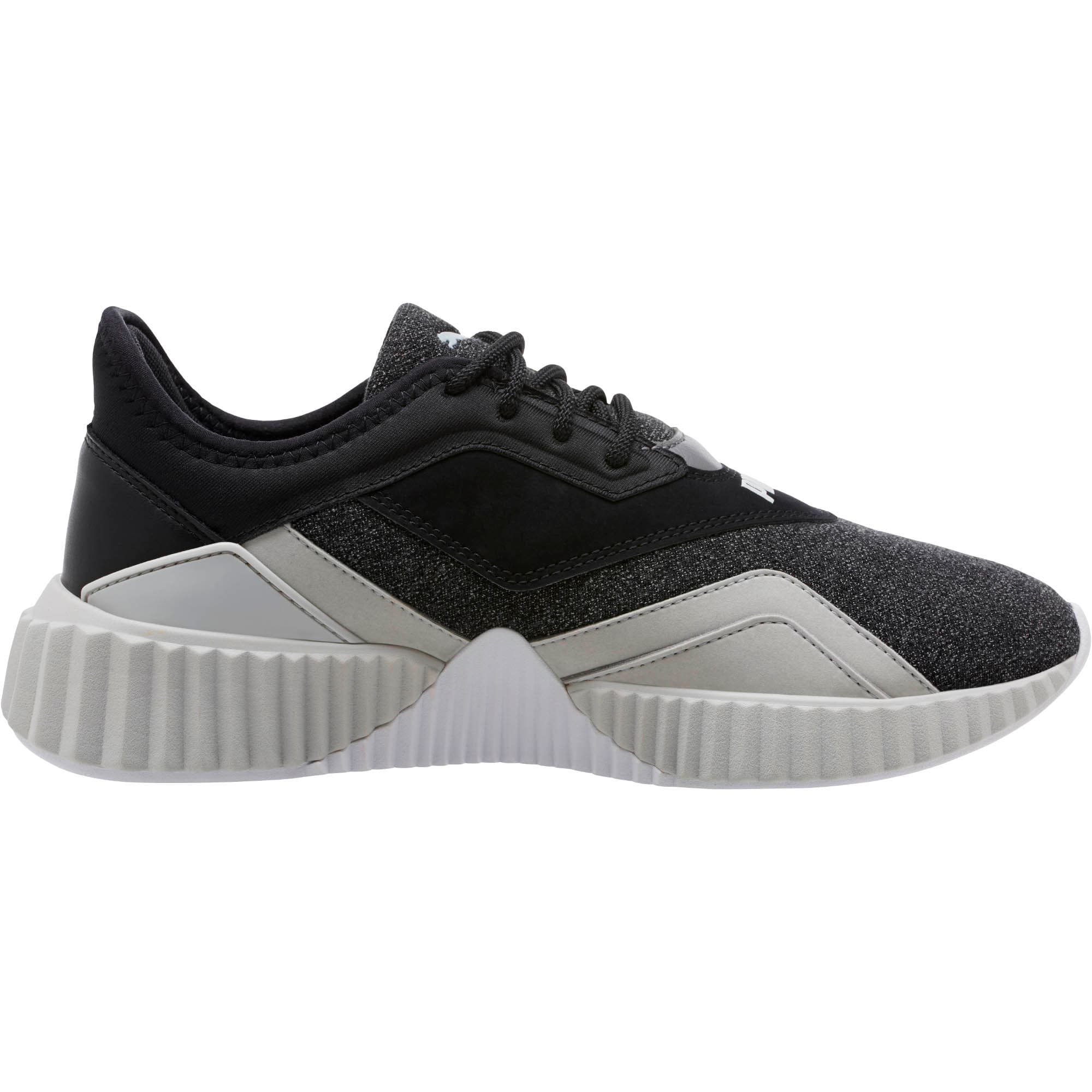 Thumbnail 3 of Defy Stitched Z Women's Training Shoes, Puma Black-Glacier Gray, medium