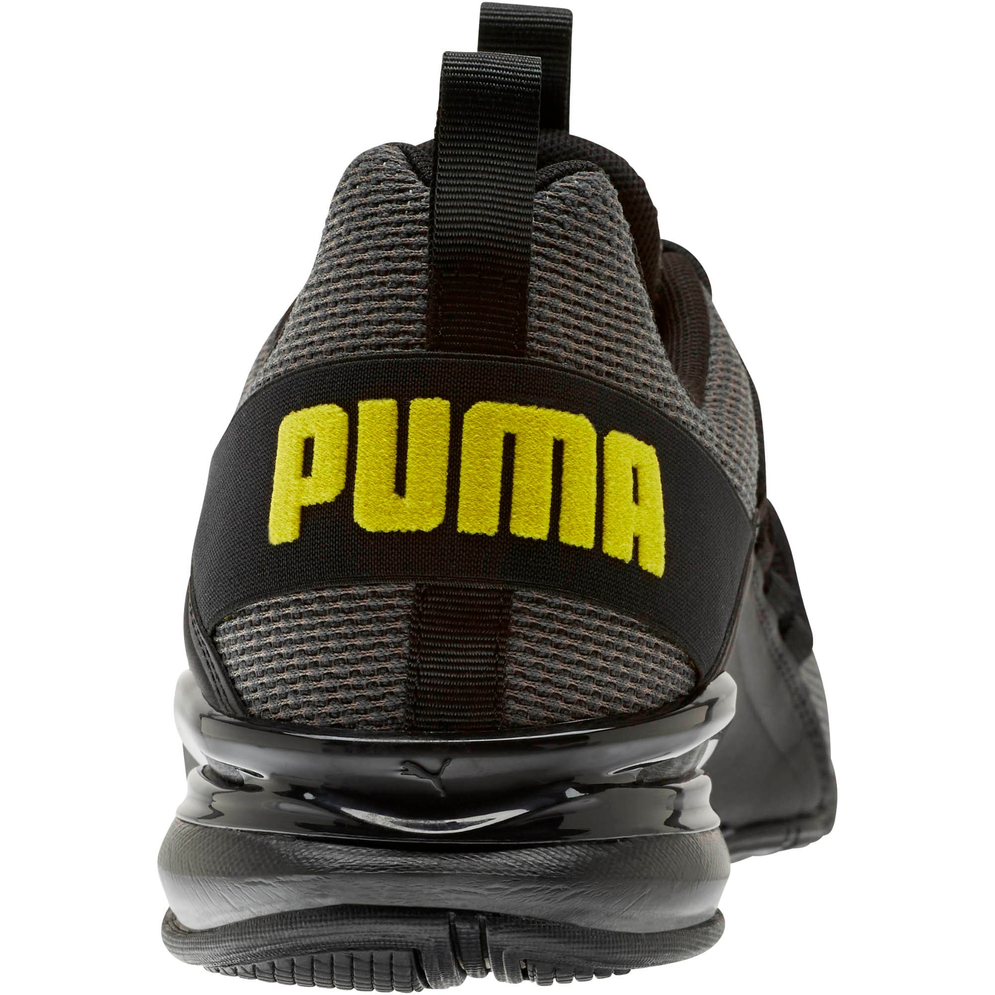 Thumbnail 3 of Axelion Mesh Men's Training Shoes, Charcoal Gray-Blazing Yellow, medium