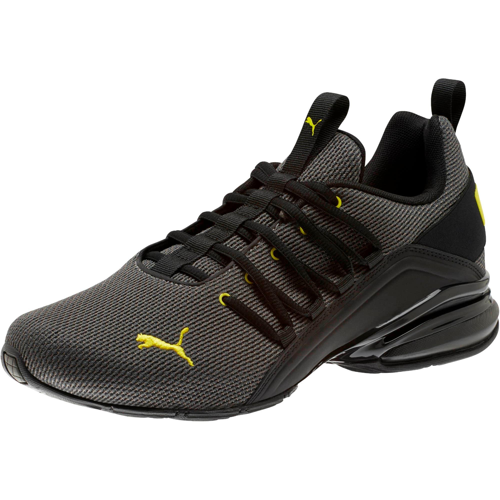 Thumbnail 1 of Axelion Mesh Men's Training Shoes, Charcoal Gray-Blazing Yellow, medium