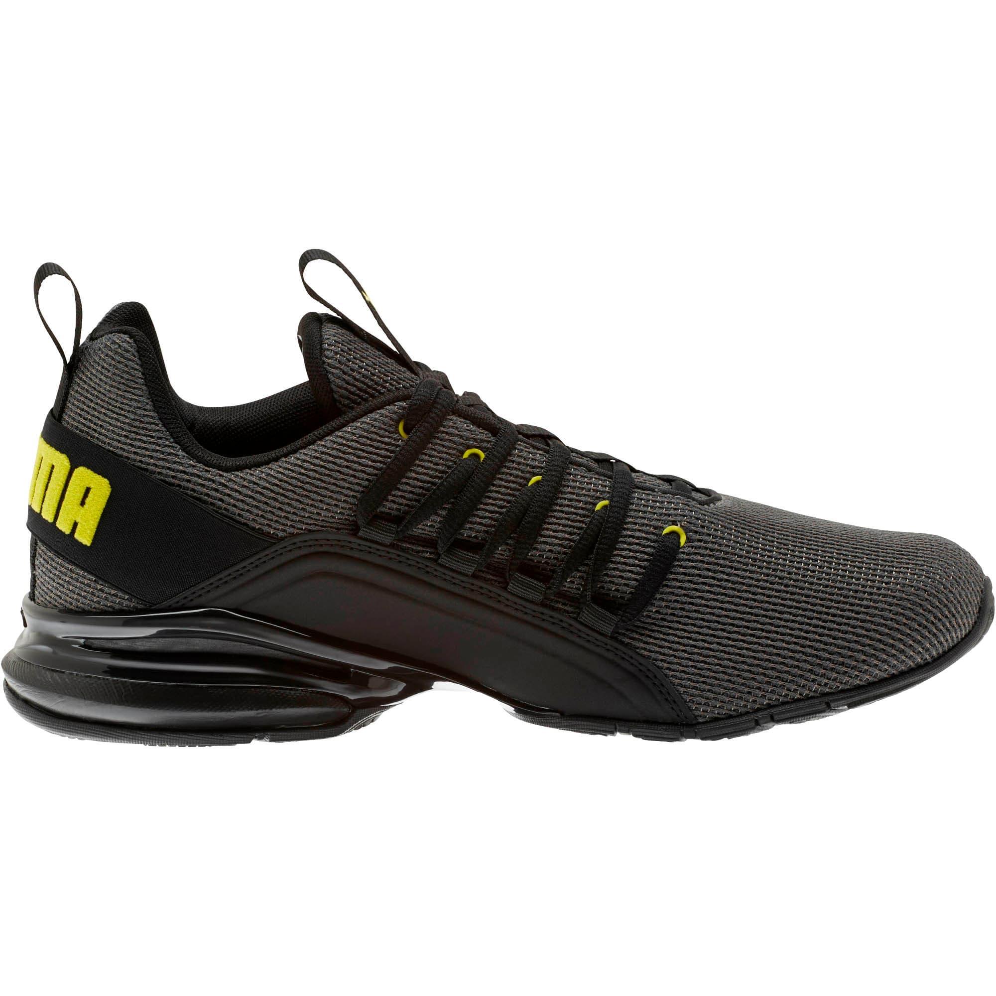 Thumbnail 4 of Axelion Mesh Men's Training Shoes, Charcoal Gray-Blazing Yellow, medium