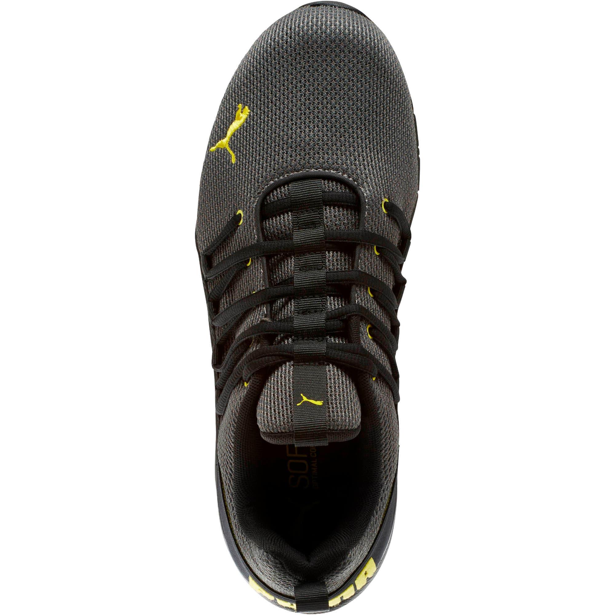 Thumbnail 5 of Axelion Mesh Men's Training Shoes, Charcoal Gray-Blazing Yellow, medium