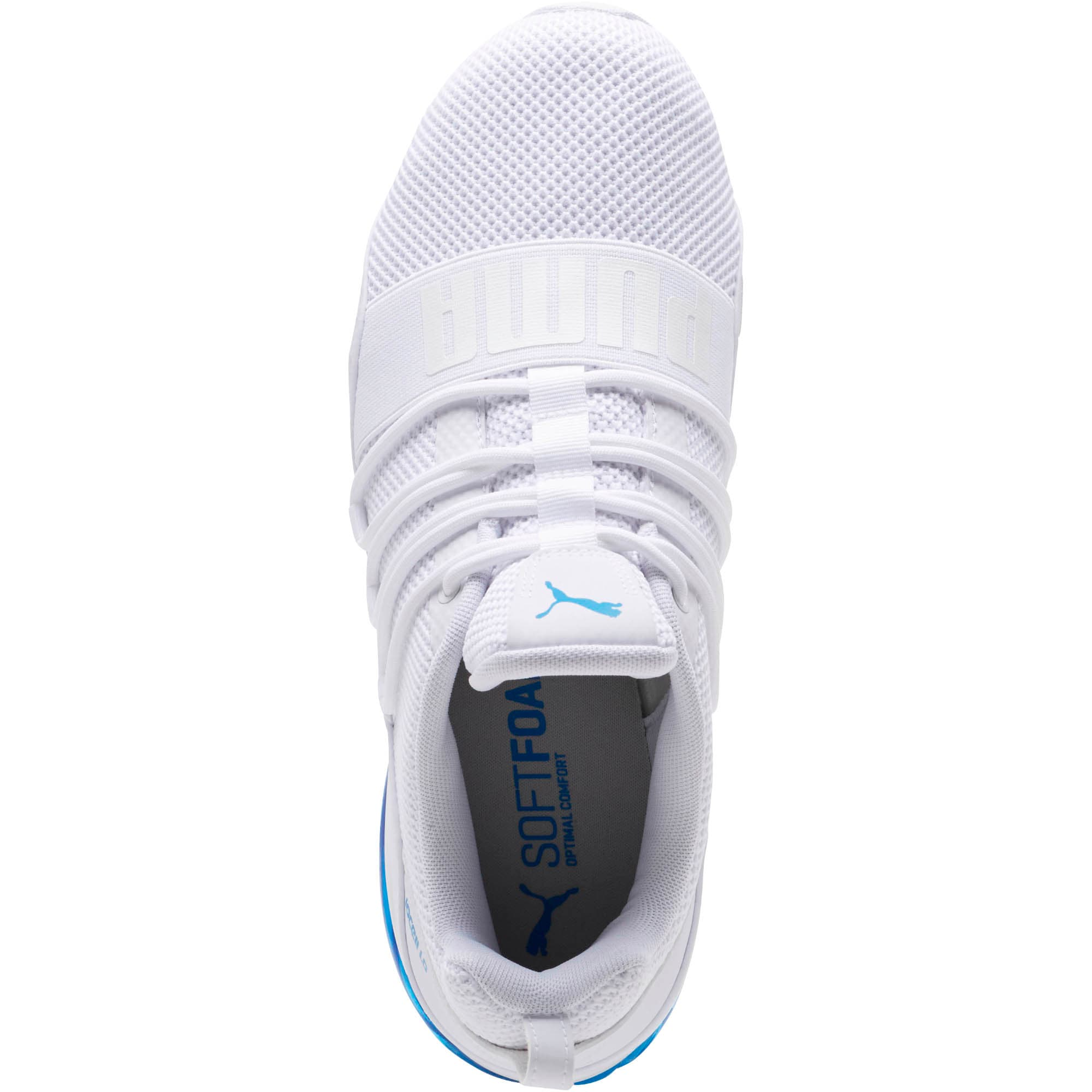 Thumbnail 5 of CELL Regulate Woven Men's Running Shoes, Puma White-Indigo Bunting, medium