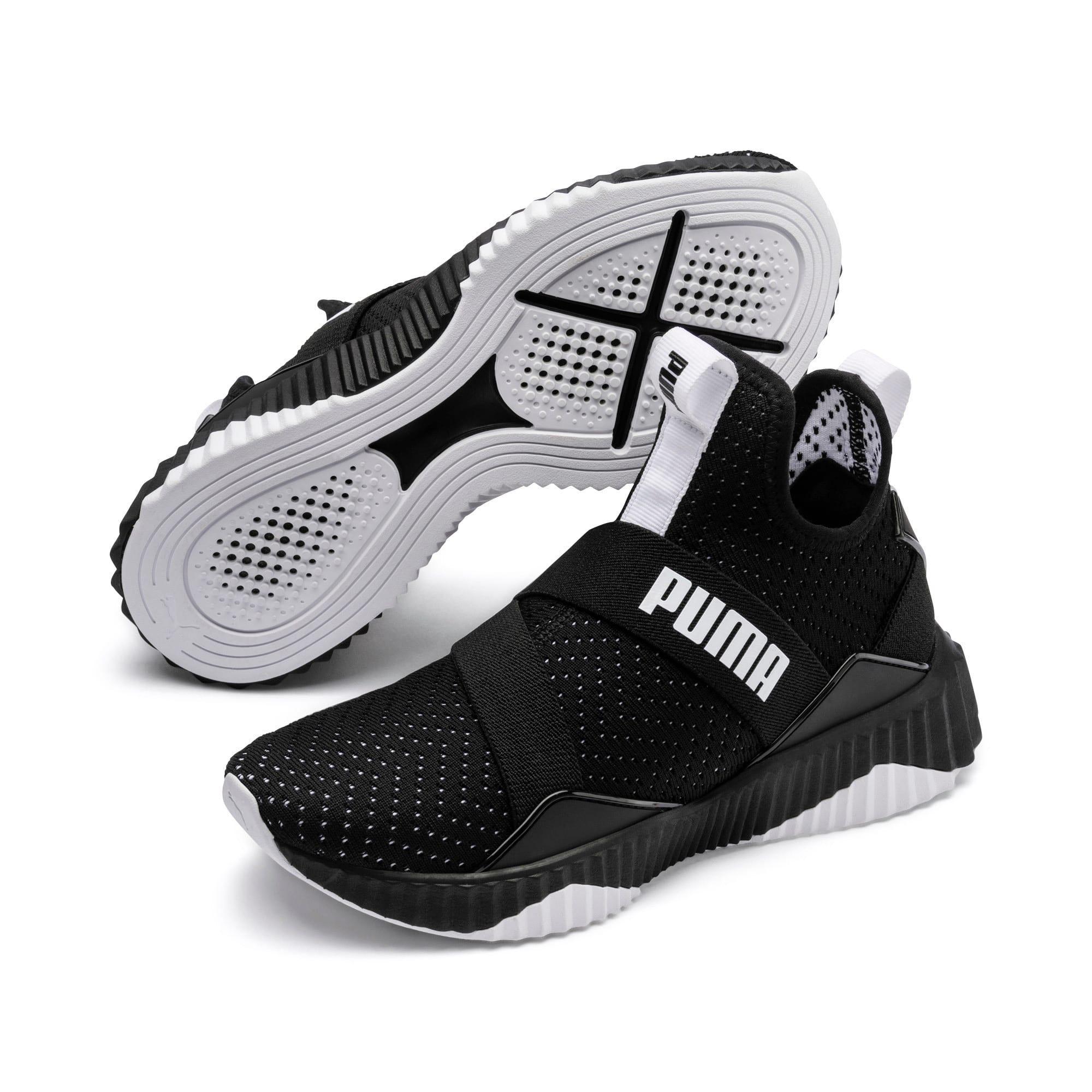 Thumbnail 3 of Defy Mid Core Women's Training Shoes, Puma Black-Puma White, medium
