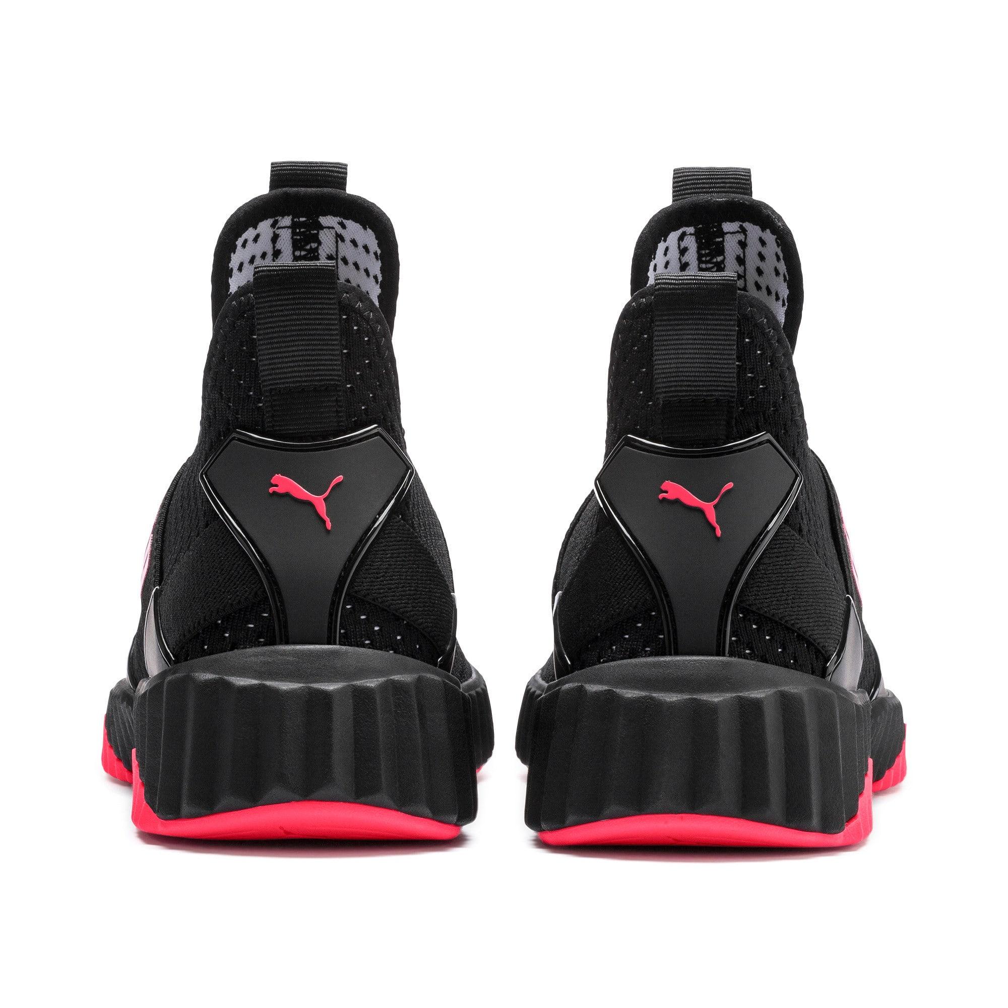 Thumbnail 4 of Defy Mid Core Women's Training Shoes, Puma Black-Pink Alert, medium