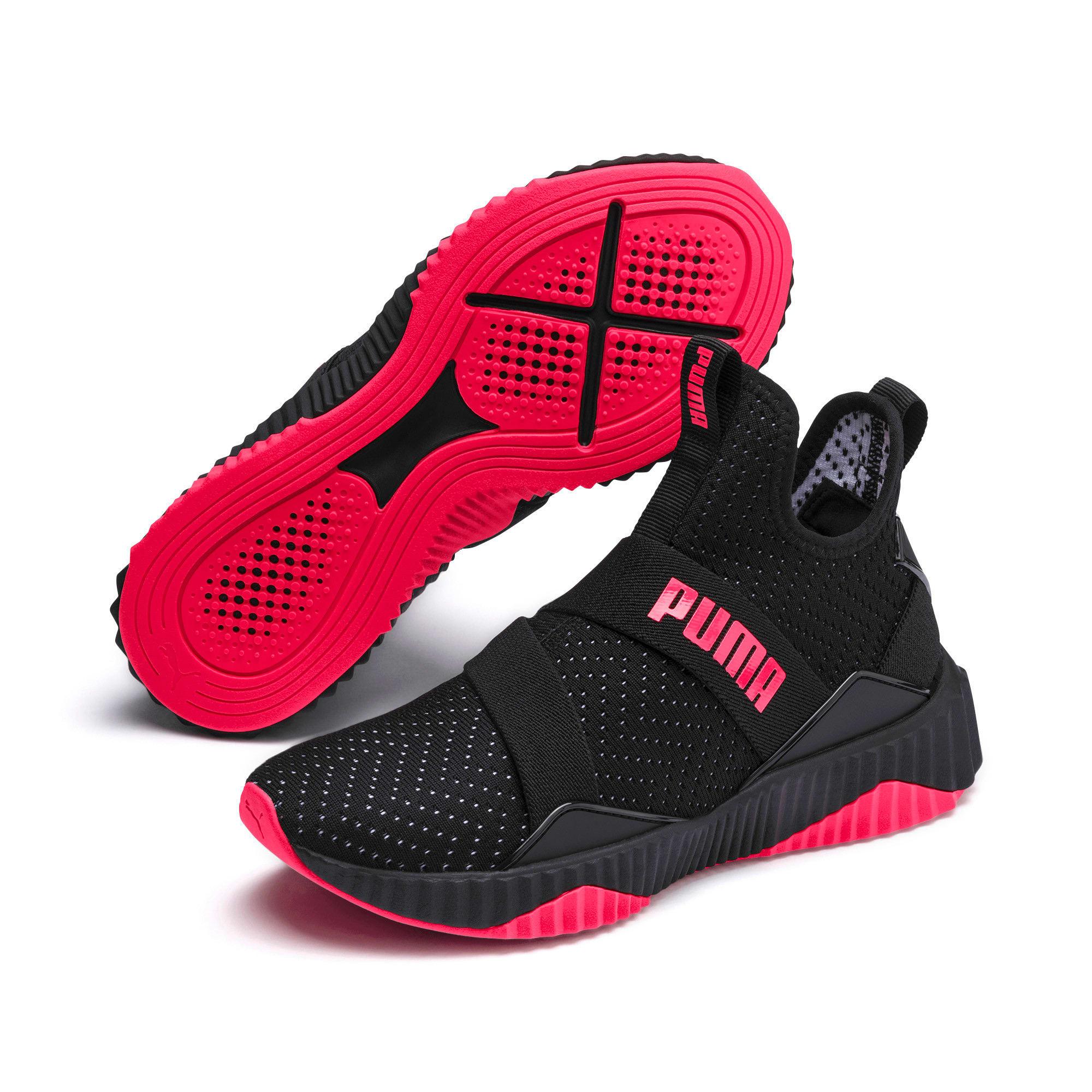 Thumbnail 3 of Defy Mid Core Women's Training Shoes, Puma Black-Pink Alert, medium