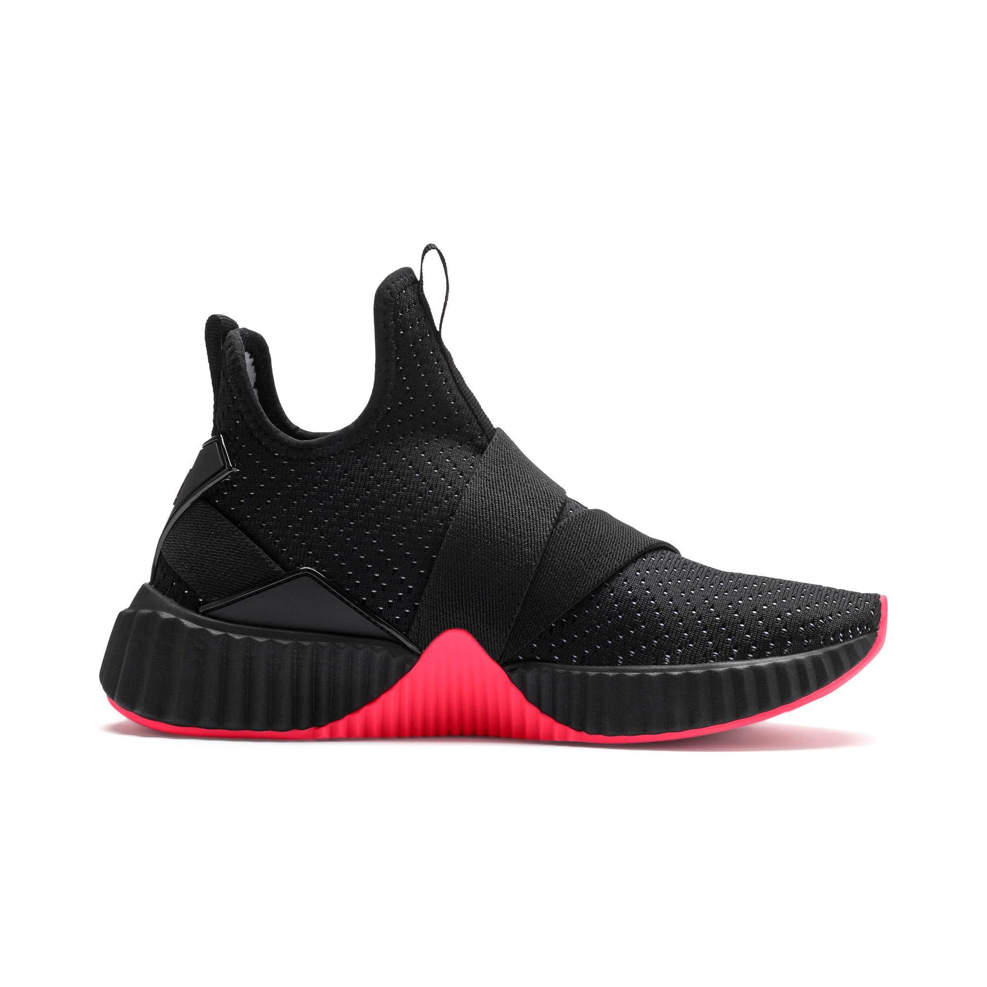 Thumbnail 6 of Defy Mid Core Women's Training Shoes, Puma Black-Pink Alert, medium