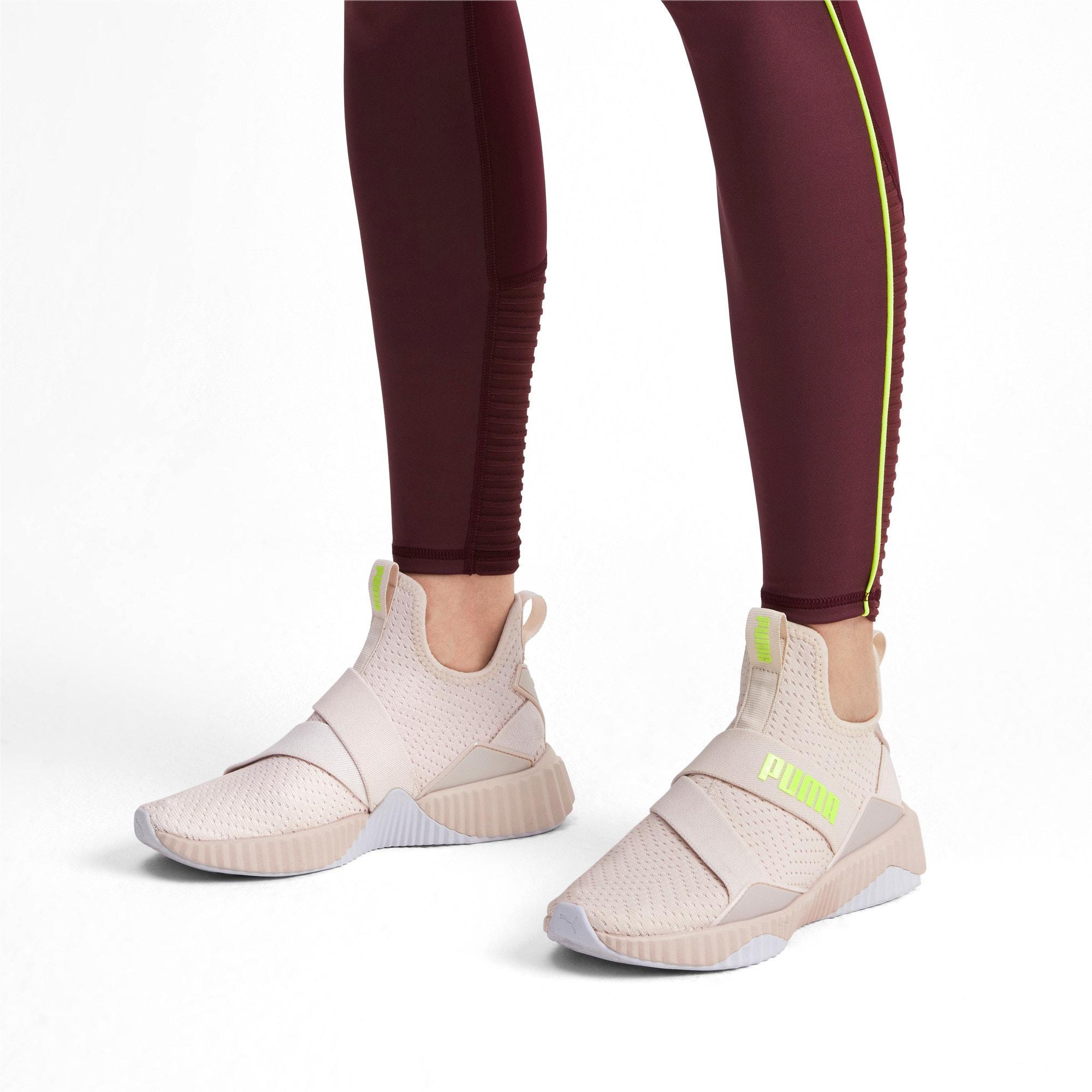 Thumbnail 2 of Defy Mid Core Women's Training Shoes, Pastel Parchment-Puma White, medium