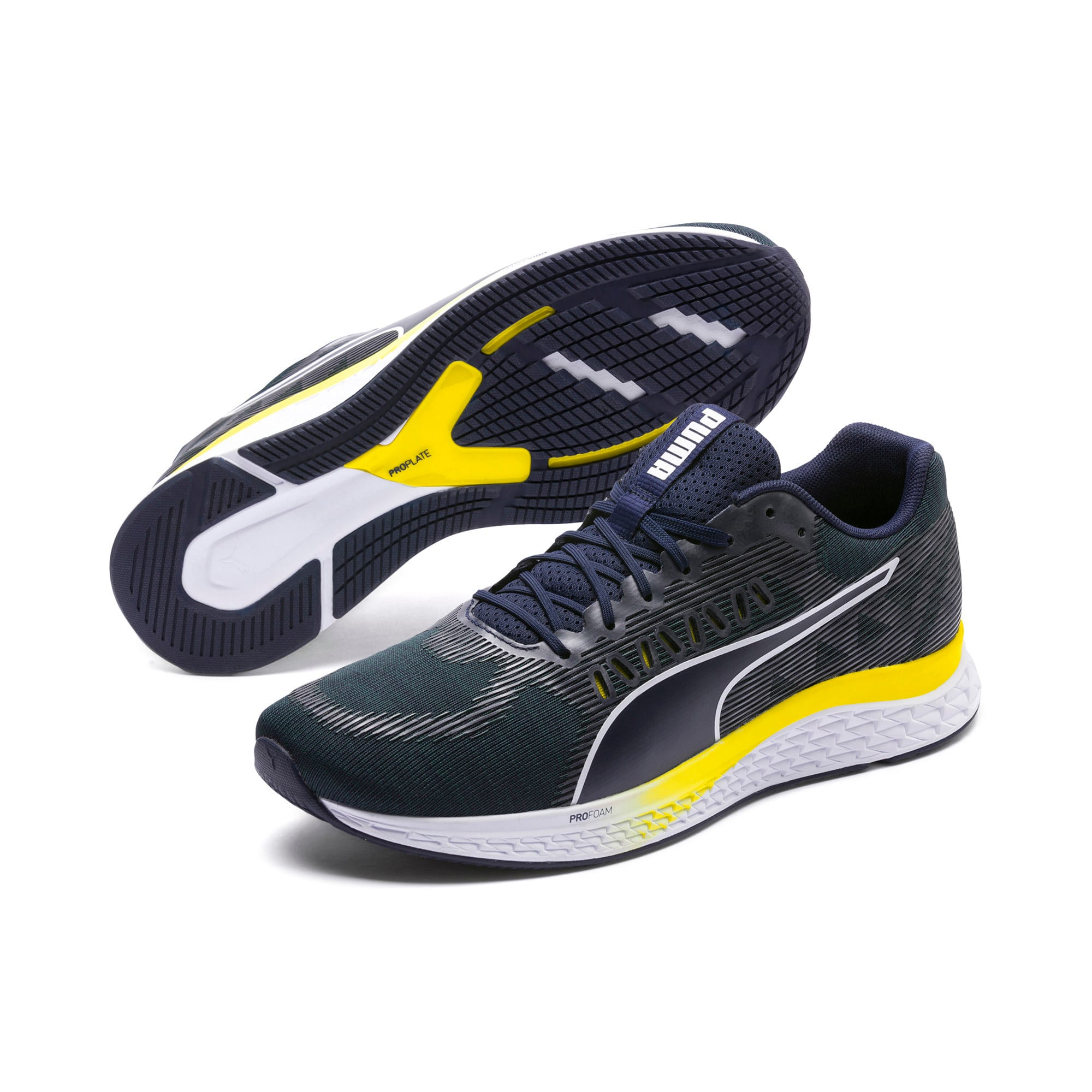 Thumbnail 2 van SPEED SUTAMINA hardloopschoenen, Peacoat-Blazing Yellow-wit, medium