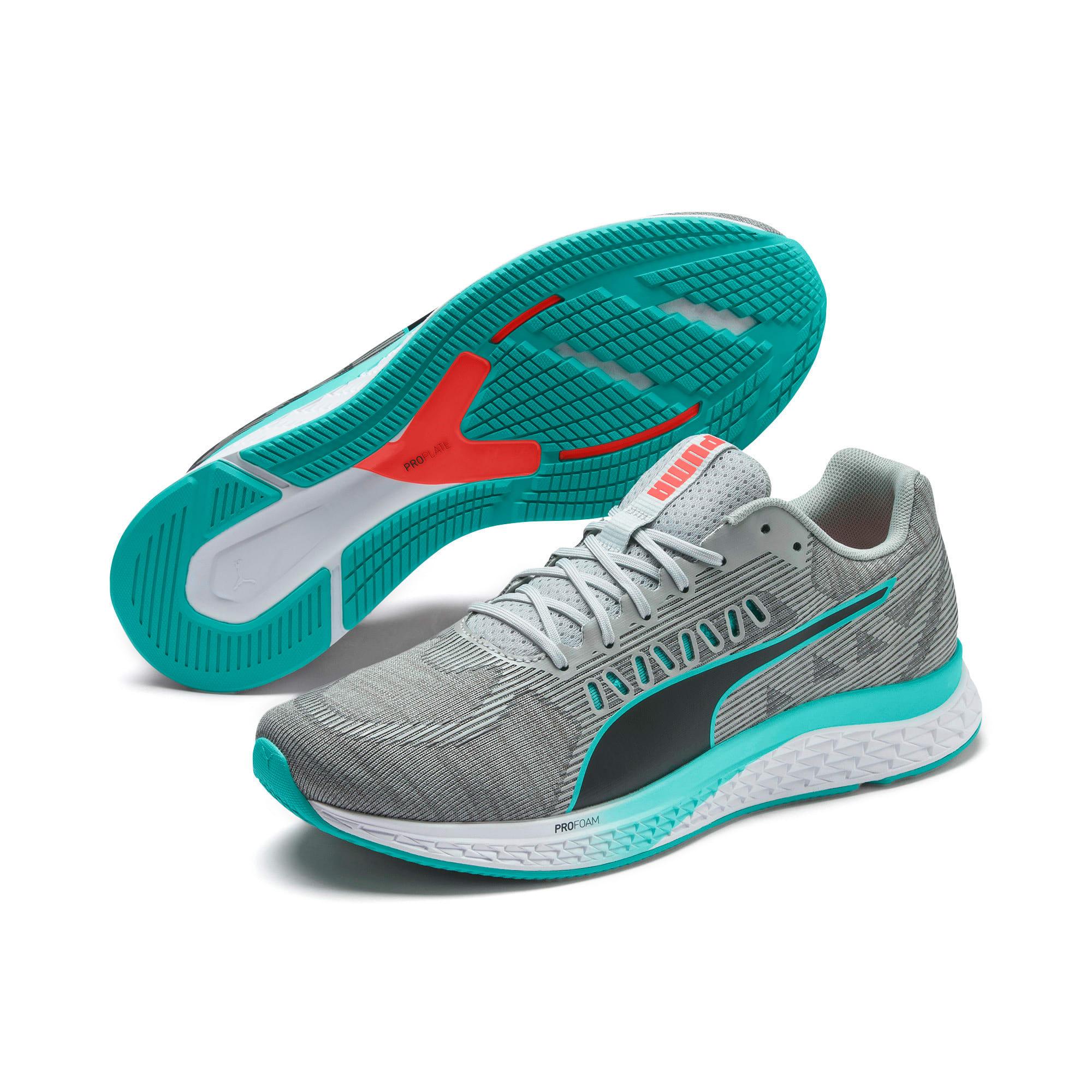 Thumbnail 3 of SPEED Sutamina Running Shoes, High Rise-Nrgy Red-Blue Turq, medium