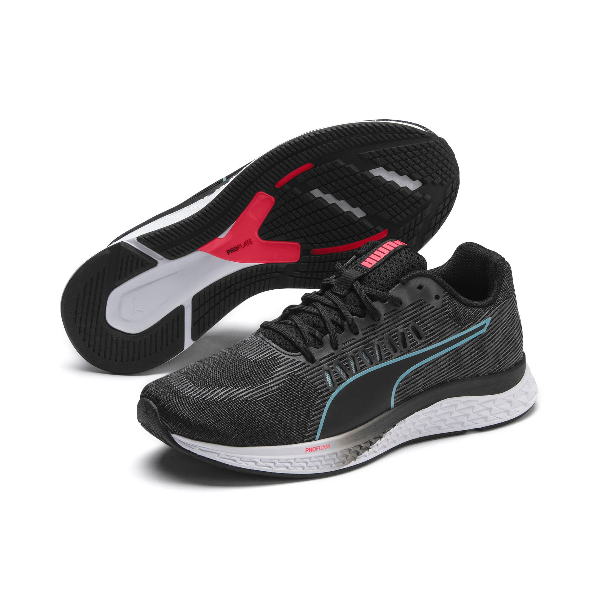 Thumbnail 3 of SPEED Sutamina Women's Running Shoes, Black-Milky Blue-Pink Alert, medium