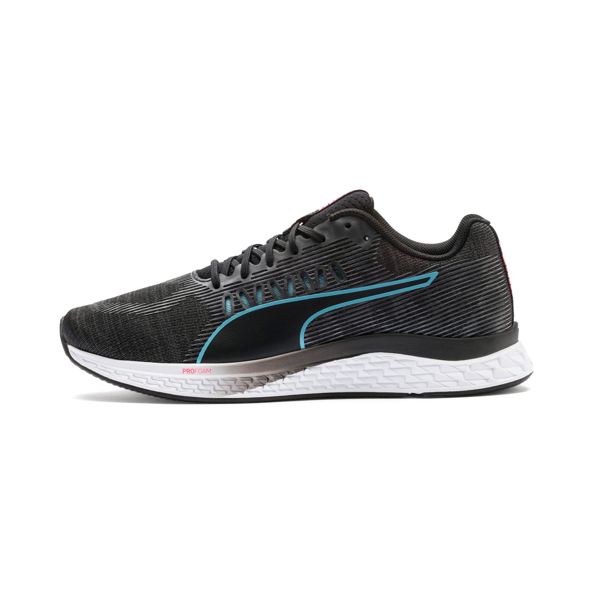 Thumbnail 1 of Speed Sutamina Women's Running Shoes, Black-Milky Blue-Pink Alert, medium