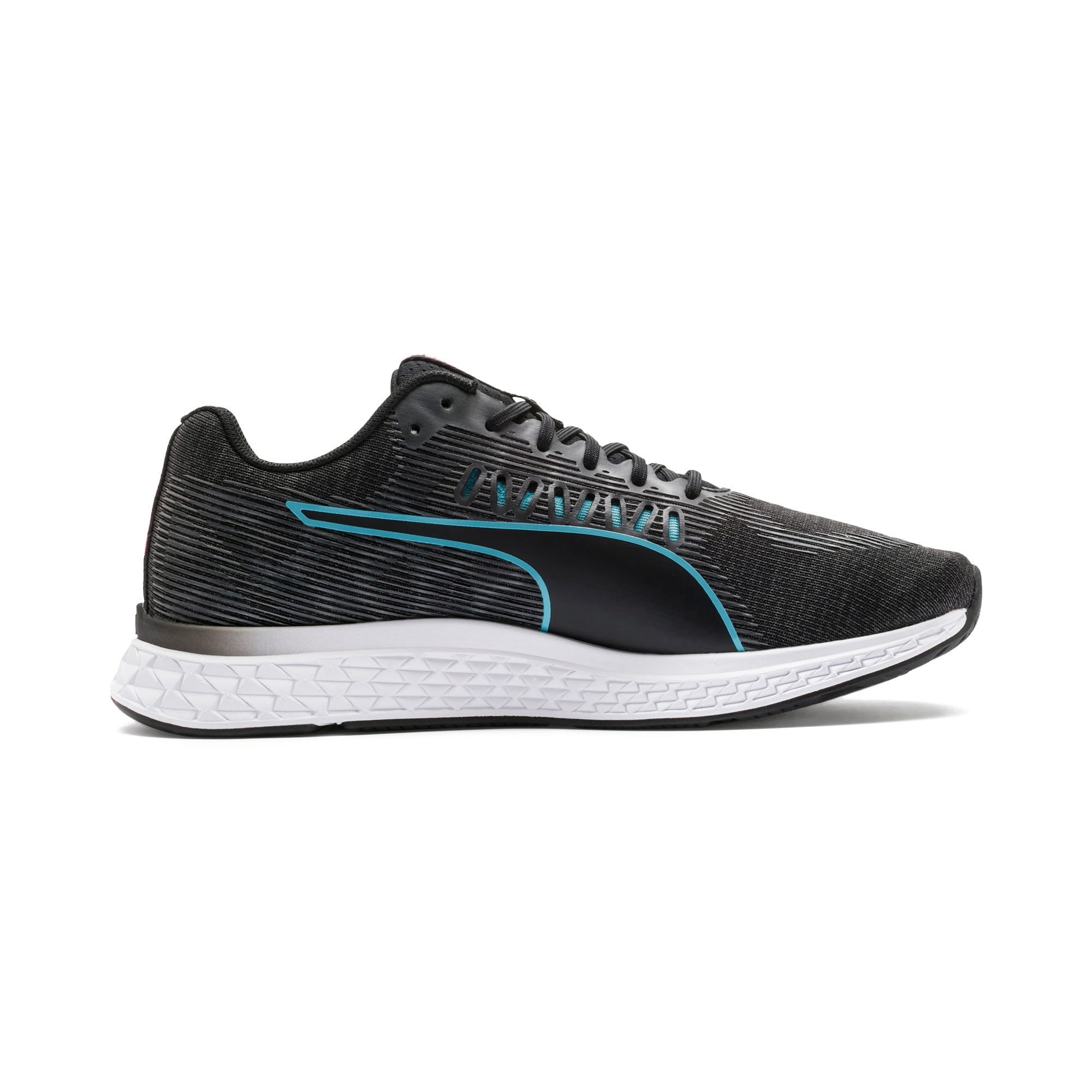 Thumbnail 7 of SPEED Sutamina Women's Running Shoes, Black-Milky Blue-Pink Alert, medium