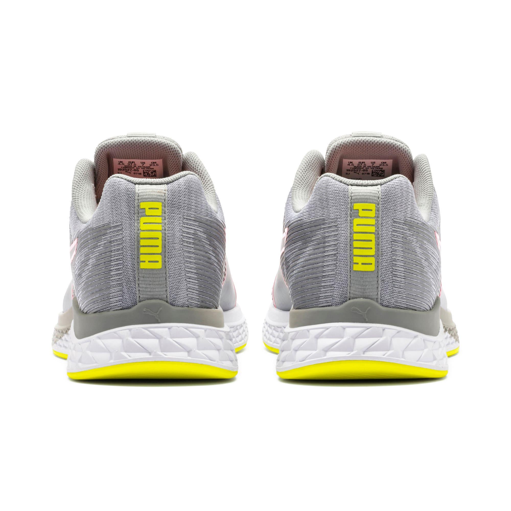 Thumbnail 4 van Speed Sutamina hardloopschoenen voor vrouwen, Quarry-Yellow Alert-roze, medium