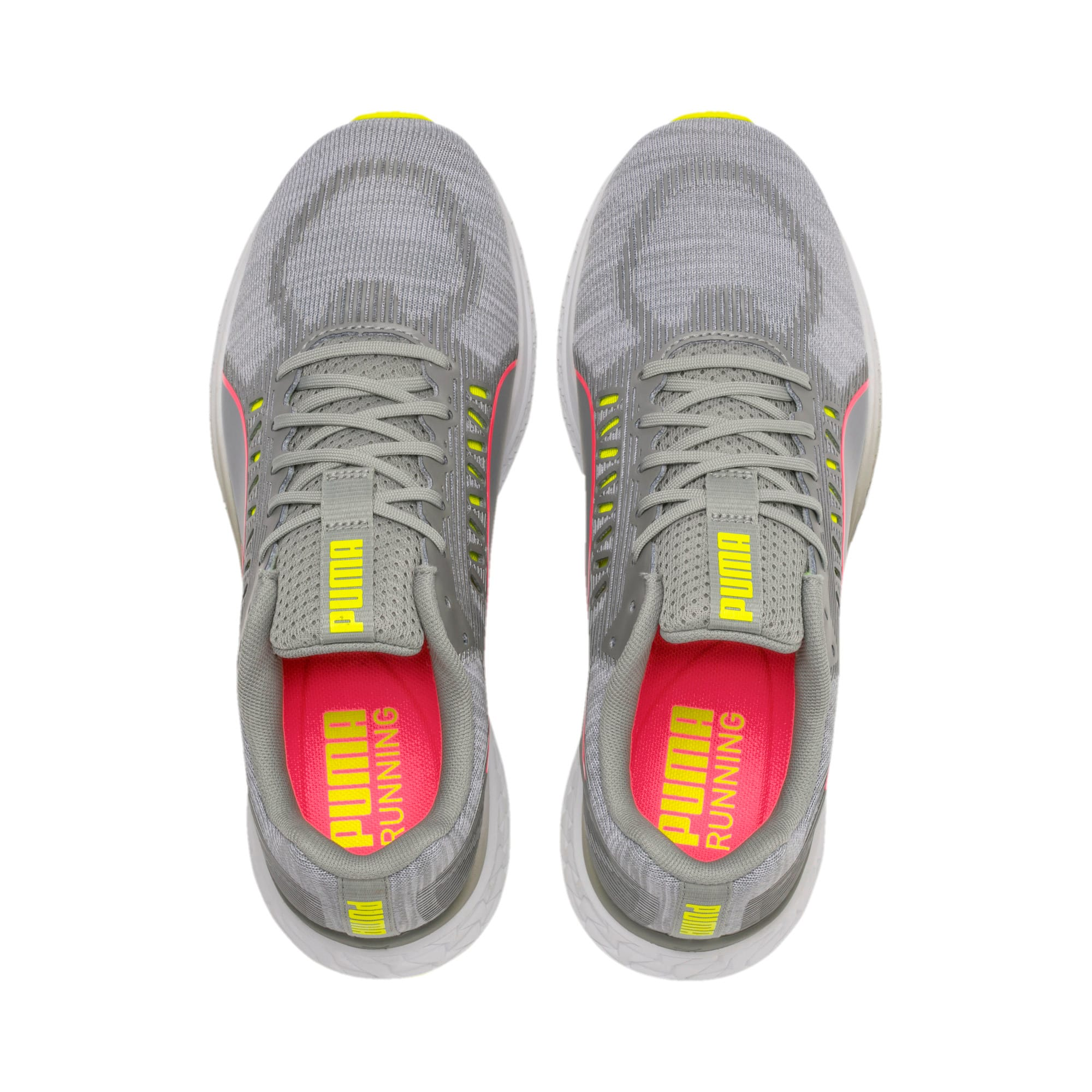 Thumbnail 8 van Speed Sutamina hardloopschoenen voor vrouwen, Quarry-Yellow Alert-roze, medium