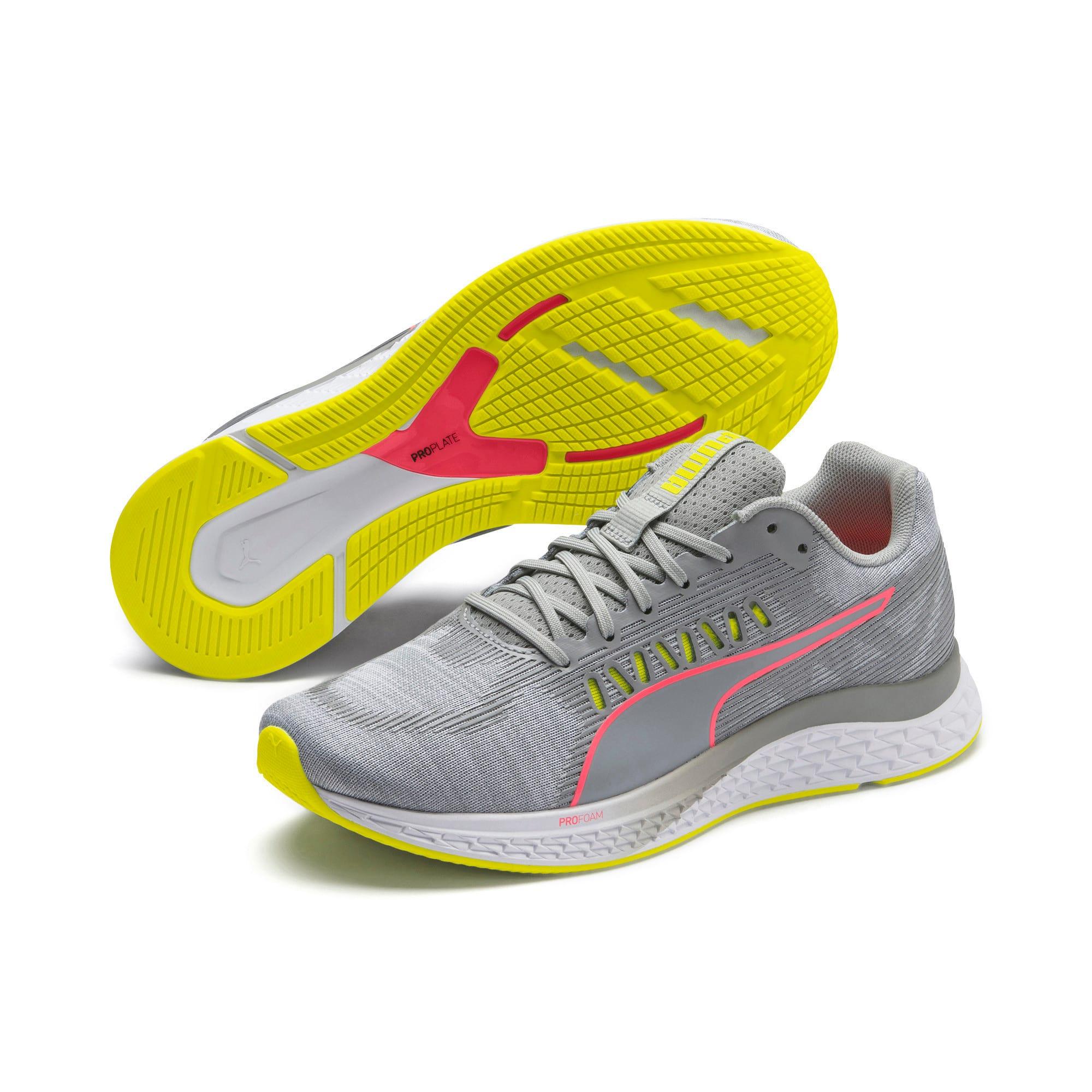 Thumbnail 9 of Speed Sutamina Women's Running Shoes, Quarry-Yellow Alert-Pink, medium-IND