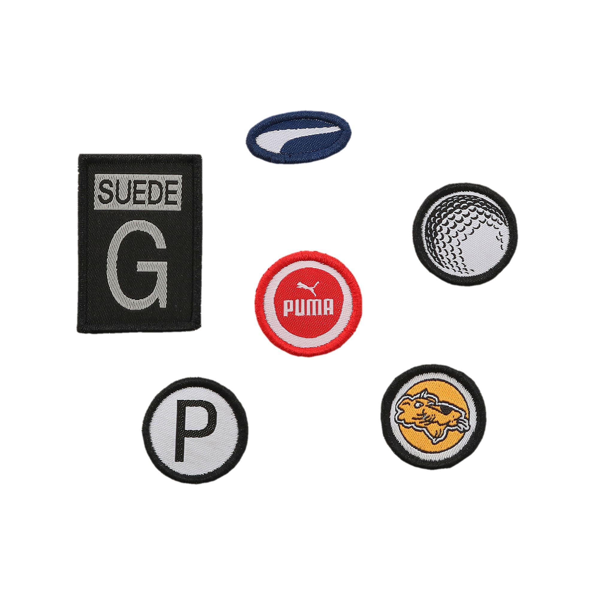 Thumbnail 7 of ゴルフ スウェード G パッチ LE ユニセックス スパイクレスシューズ, Black-Black, medium-JPN