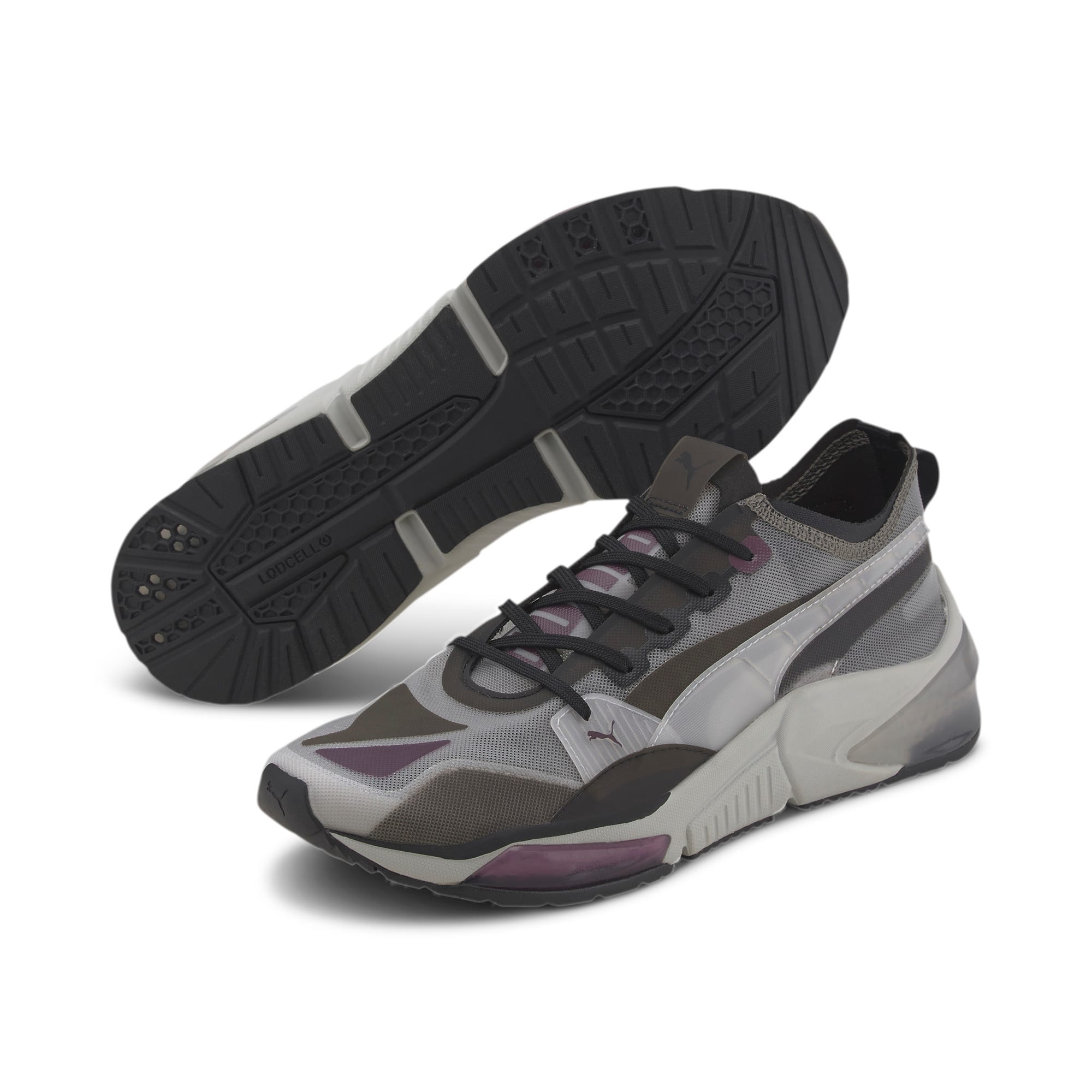 Thumbnail 2 of LQDCELL Optic Sheer Training Shoes, Gray Violet-Puma Black, medium