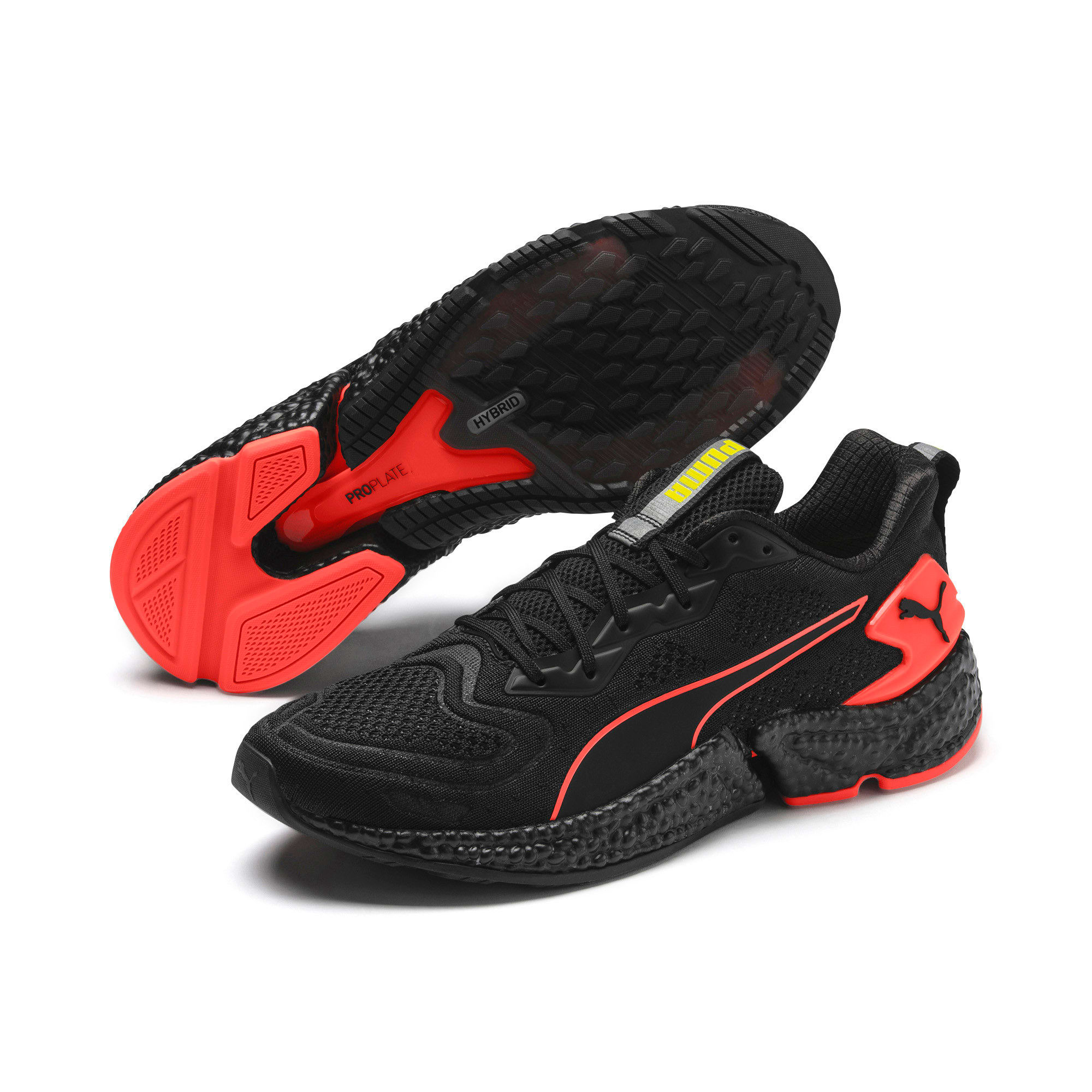 Thumbnail 3 of Chaussure de course HYBID SPEED Orbiter pour homme, Black-Nrgy Red-Yellow, medium