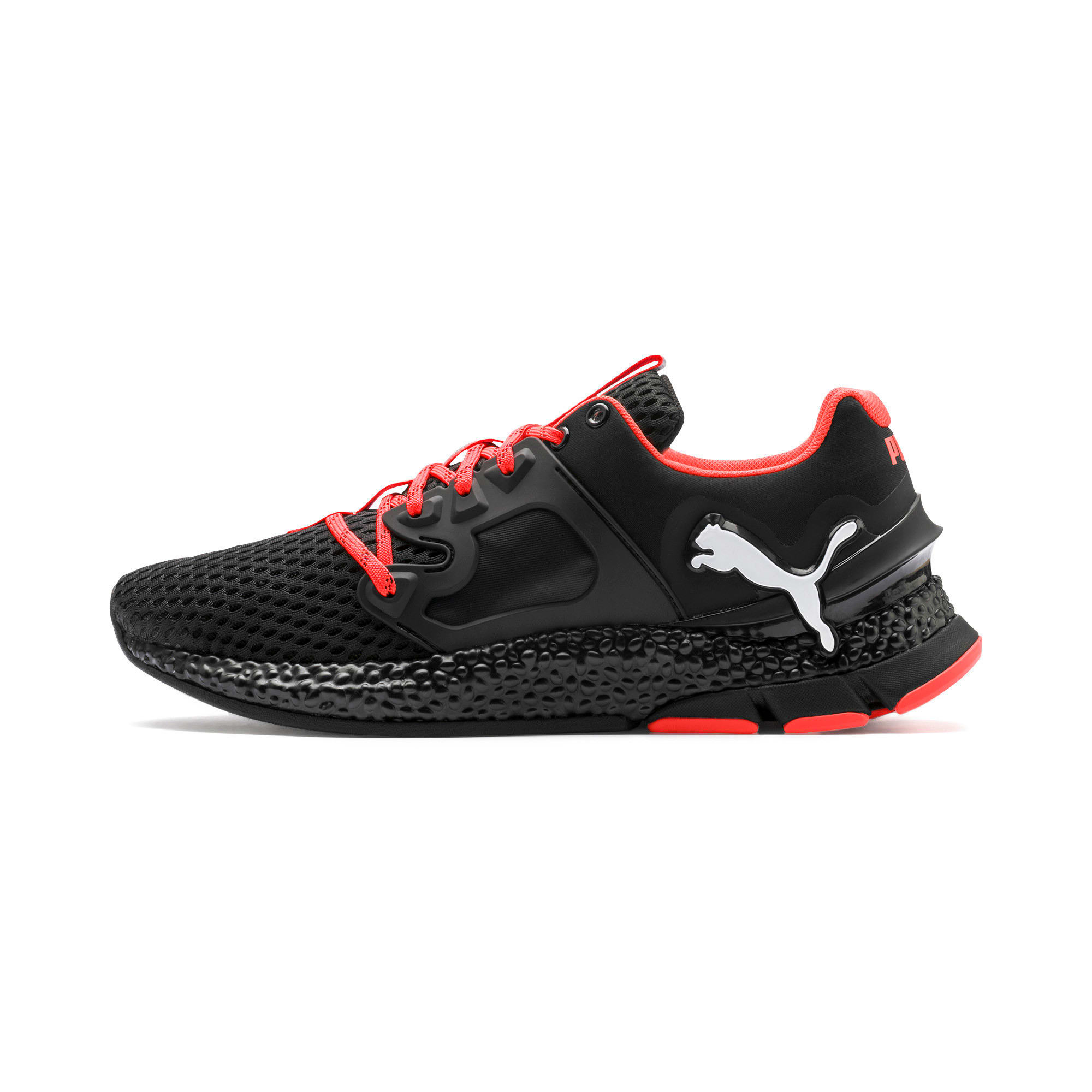 Thumbnail 1 of HYBRID Sky Men's Running Shoes, Black-White-Nrgy Red, medium