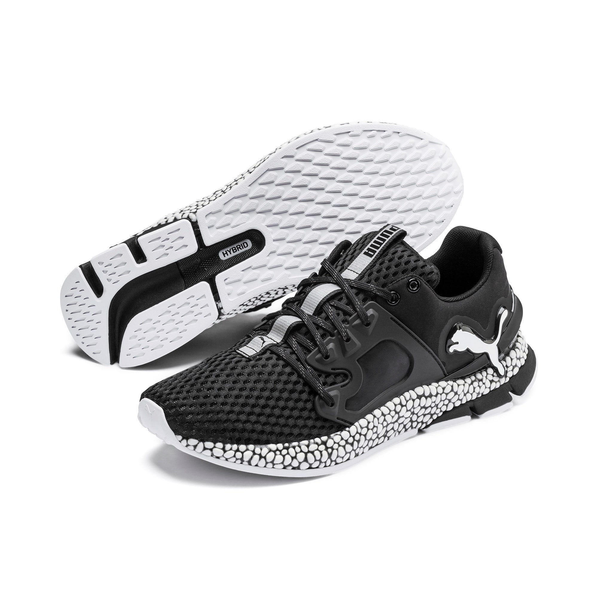 Thumbnail 3 of HYBRID Sky Men's Running Shoes, Puma Black-Puma White, medium