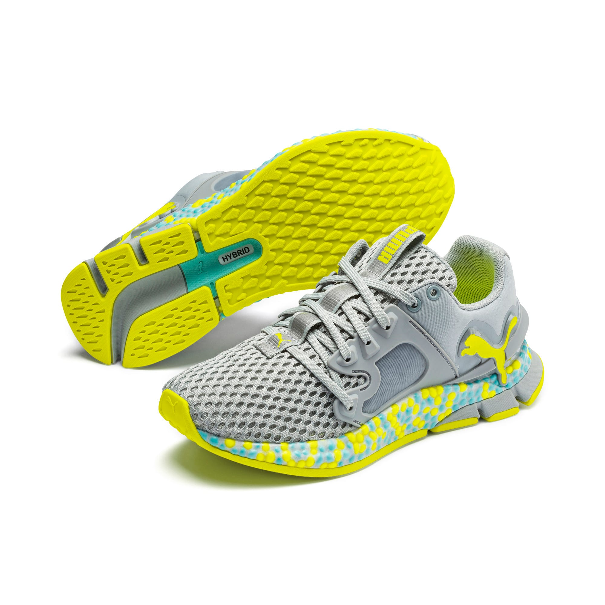 HYBRID Sky Women's Running Shoes, Quarry-Yellow Alert, large
