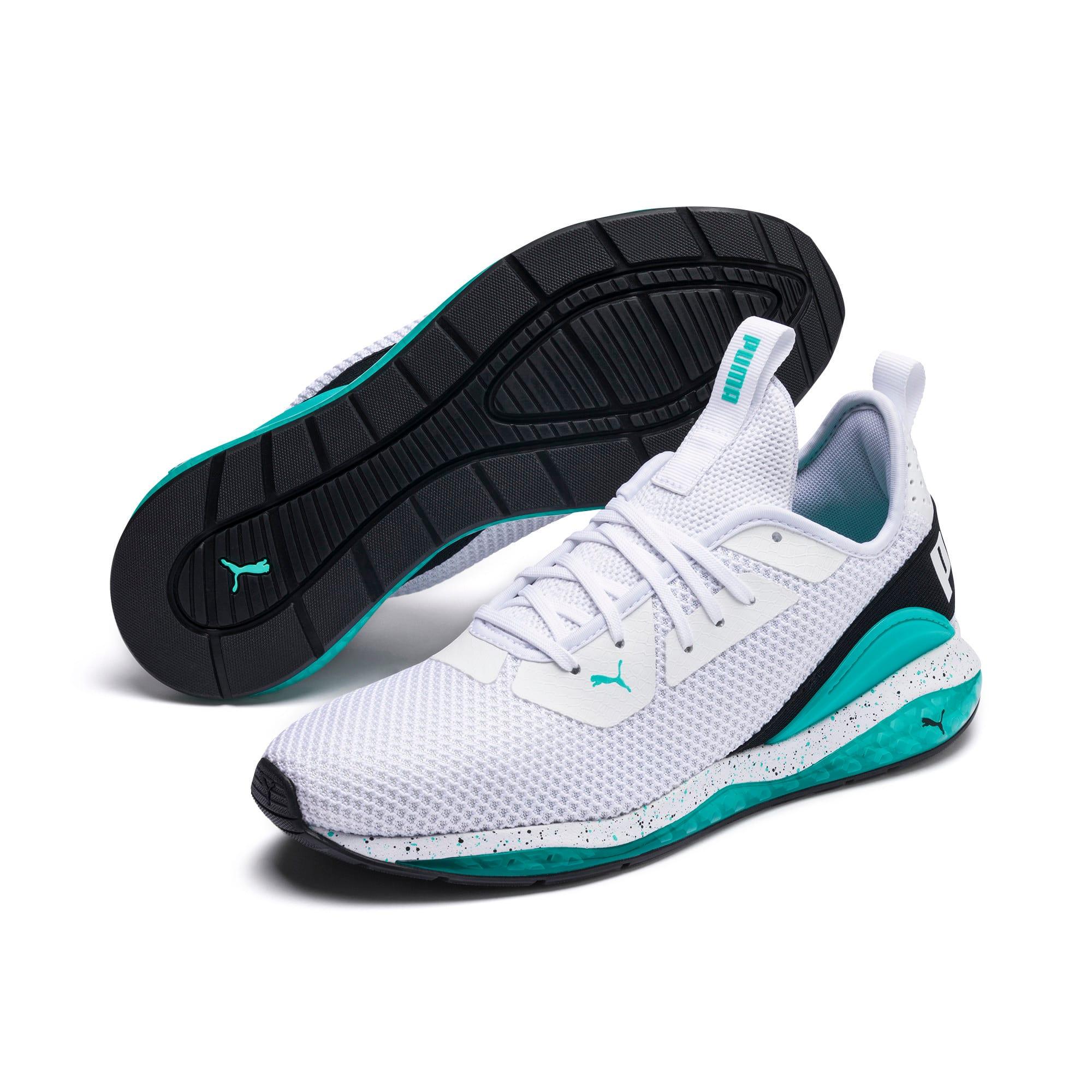 Miniatura 2 de Zapatos de entrenamiento CELL Descend Weave para hombre, White-Black-Blue Turquoise, mediano