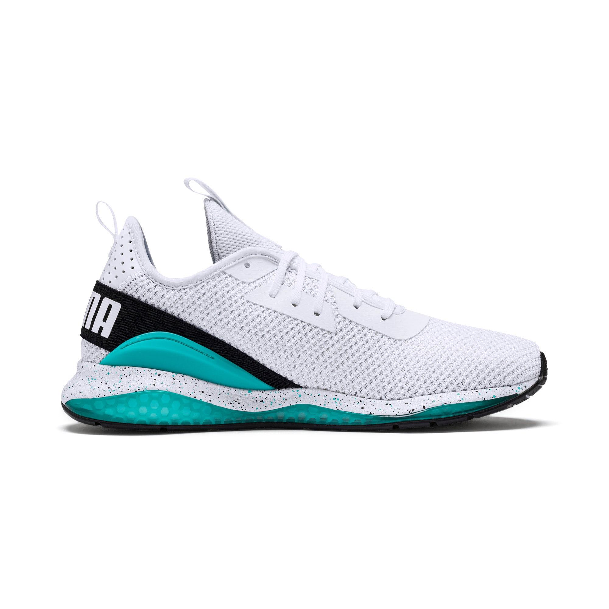 Miniatura 7 de Zapatos de entrenamiento CELL Descend Weave para hombre, White-Black-Blue Turquoise, mediano