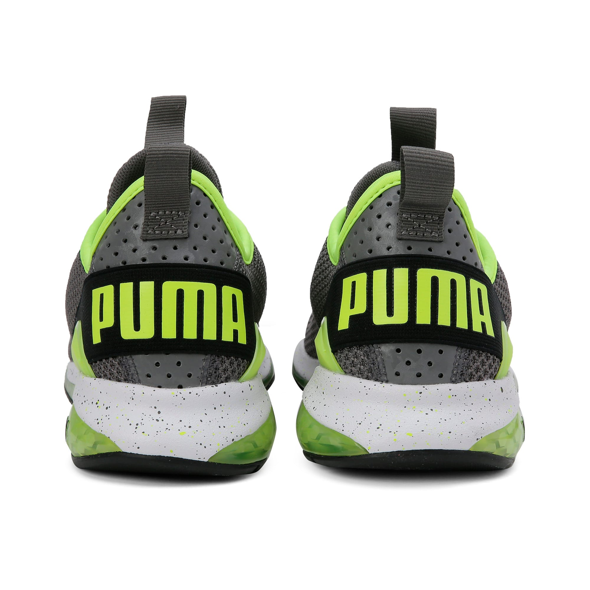Thumbnail 5 of Cell Descend Weave Running Trainers, CASTLEROCK-Black-Yellow, medium-IND